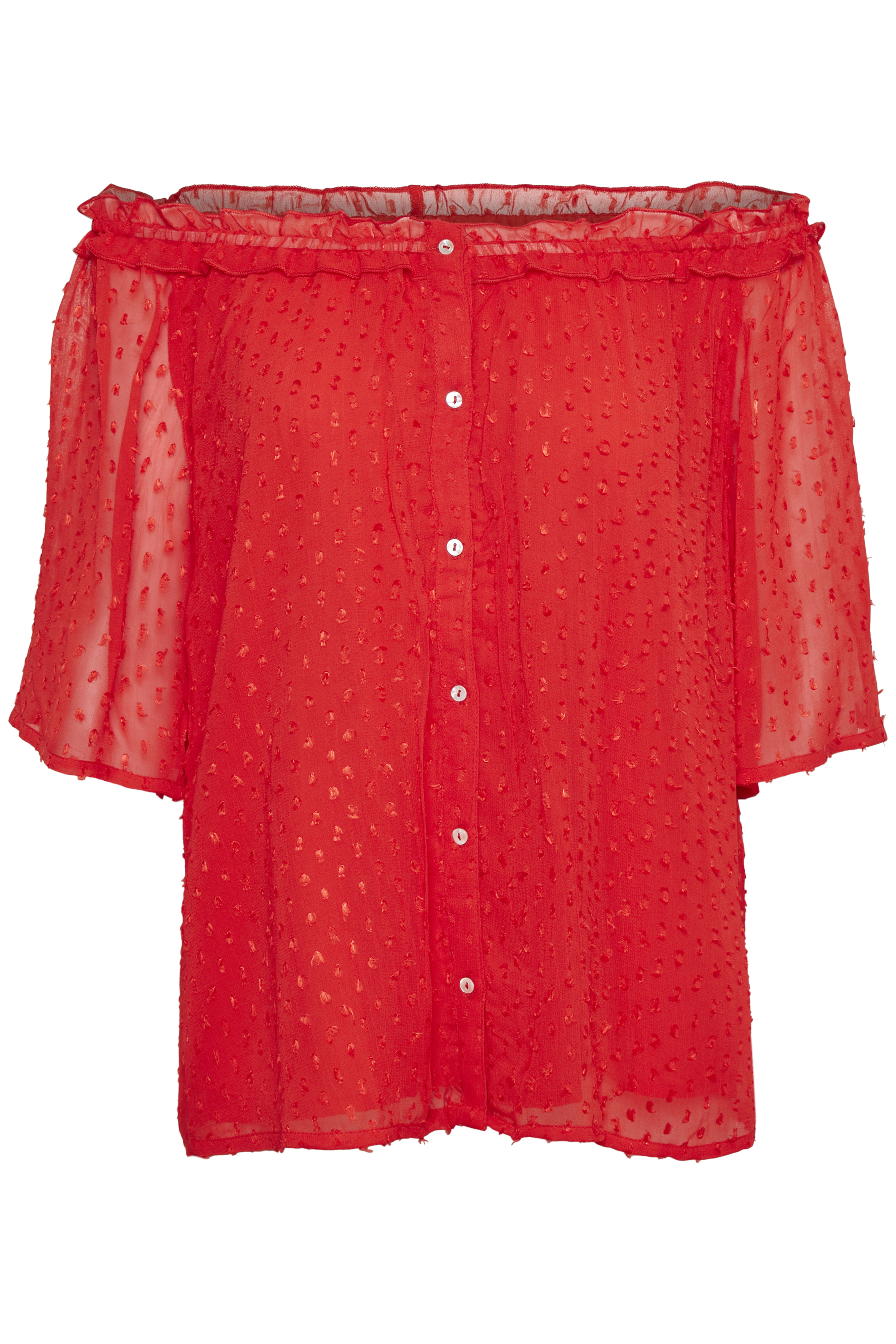 Image of   Part Two Dame Top - Fiery Red