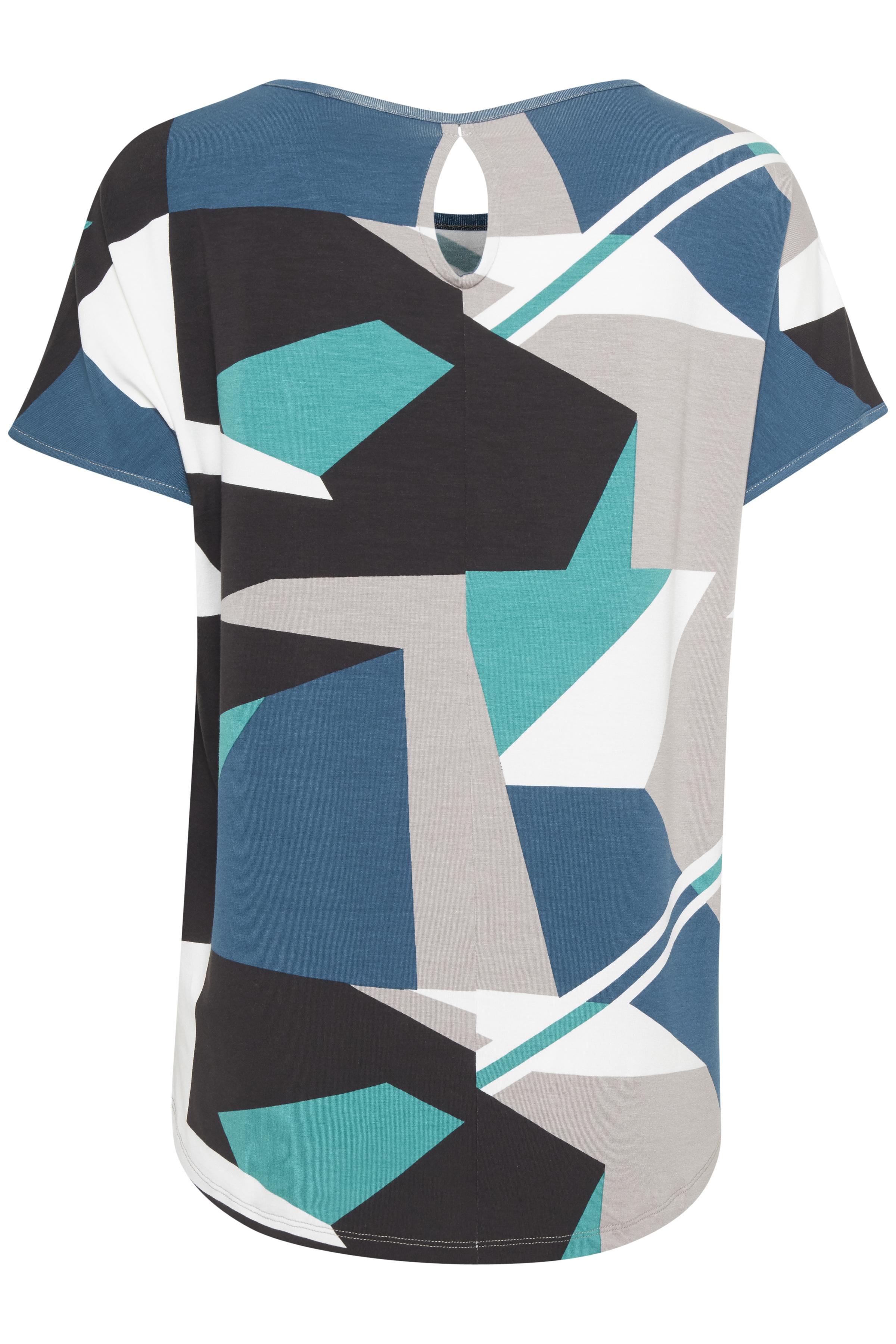 Flaskegrøn/grå Kortærmet T-shirt fra Fransa – Køb Flaskegrøn/grå Kortærmet T-shirt fra str. XS-XXL her