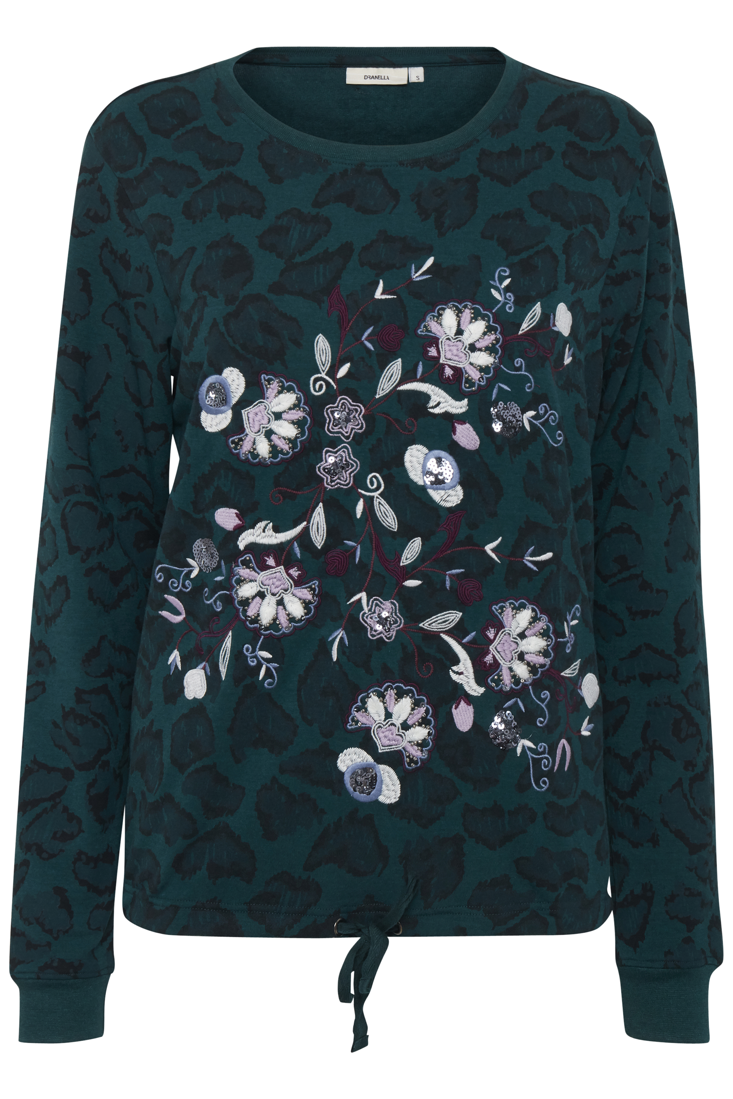 Dranella Dame Sweatshirt - Flaskegrøn/lilla