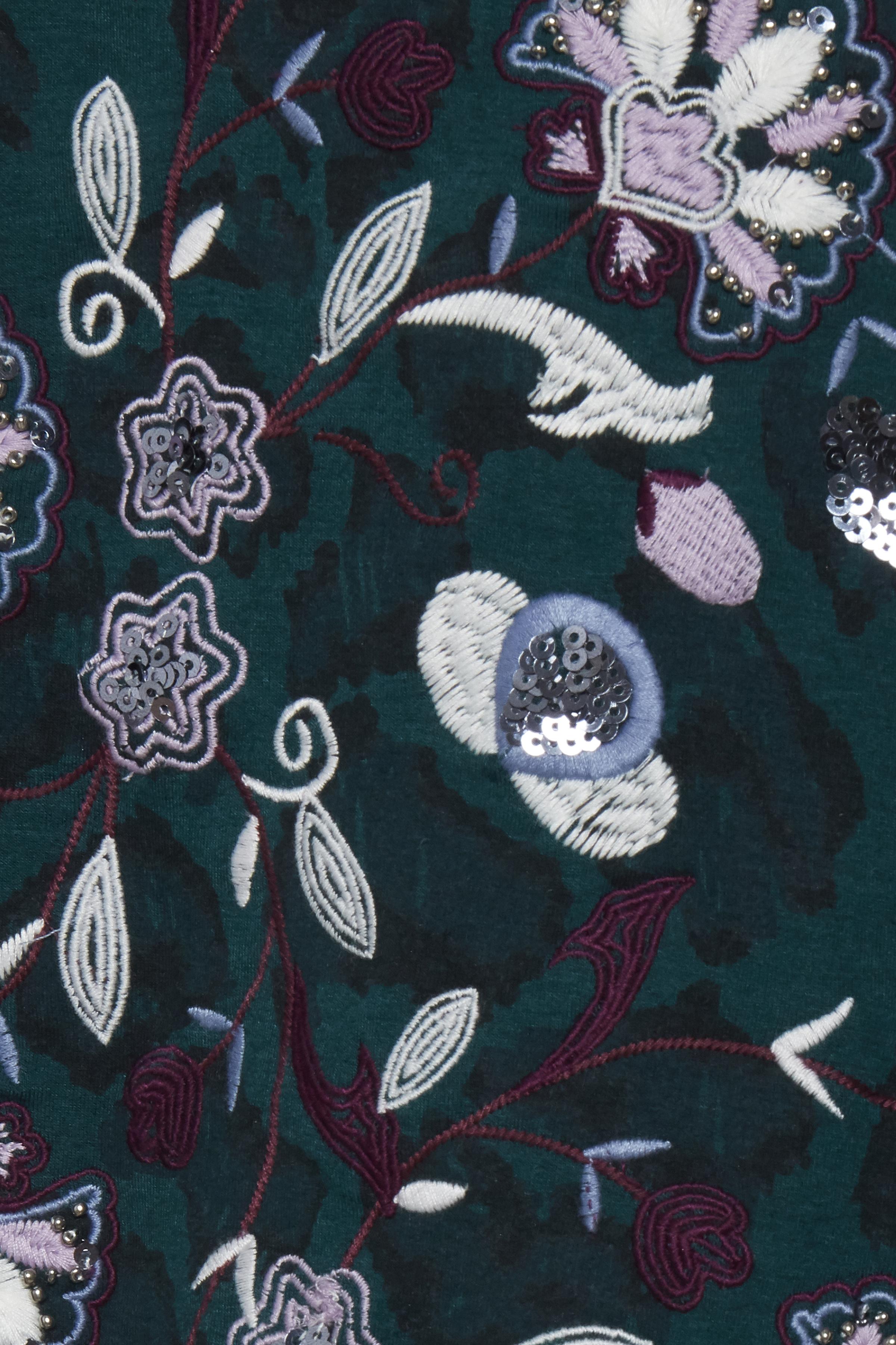 Flaskegrøn/lilla Sweatshirt fra Dranella – Køb Flaskegrøn/lilla Sweatshirt fra str. XS-XXL her