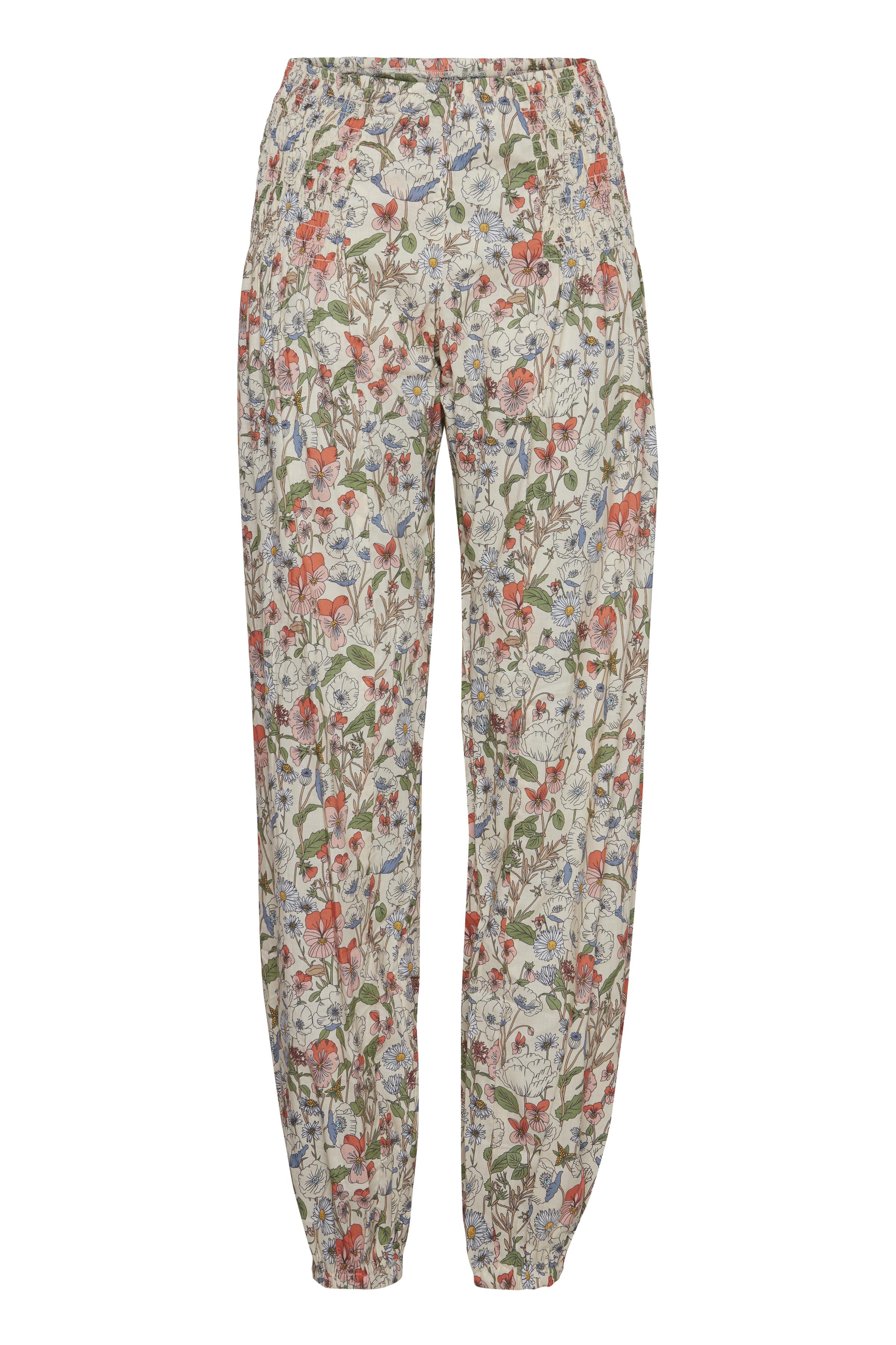 Pulz Jeans Dame Buks - Flower field printed