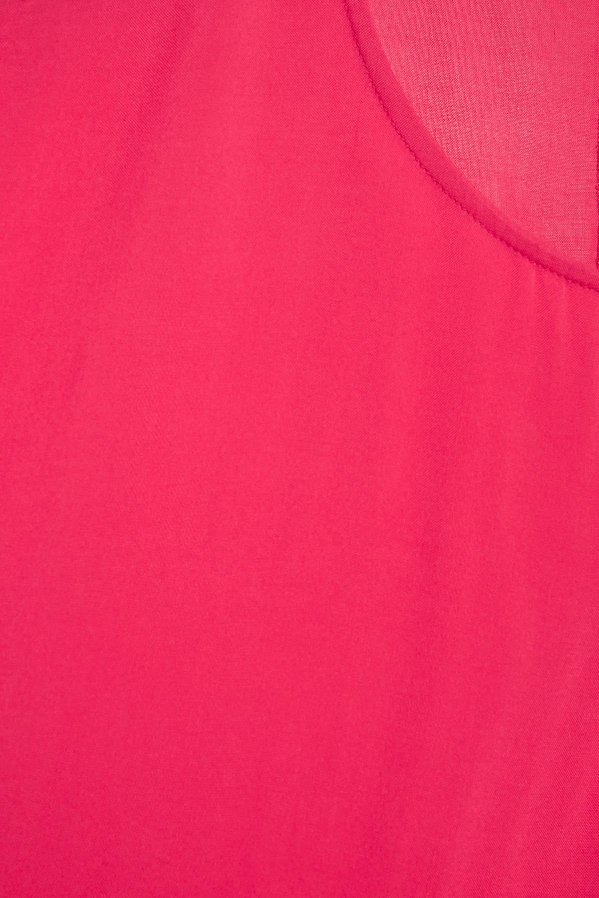 Framboosrood Blouse met korte mouwen van b.young – Door Framboosrood Blouse met korte mouwen van maat. 34-46 hier