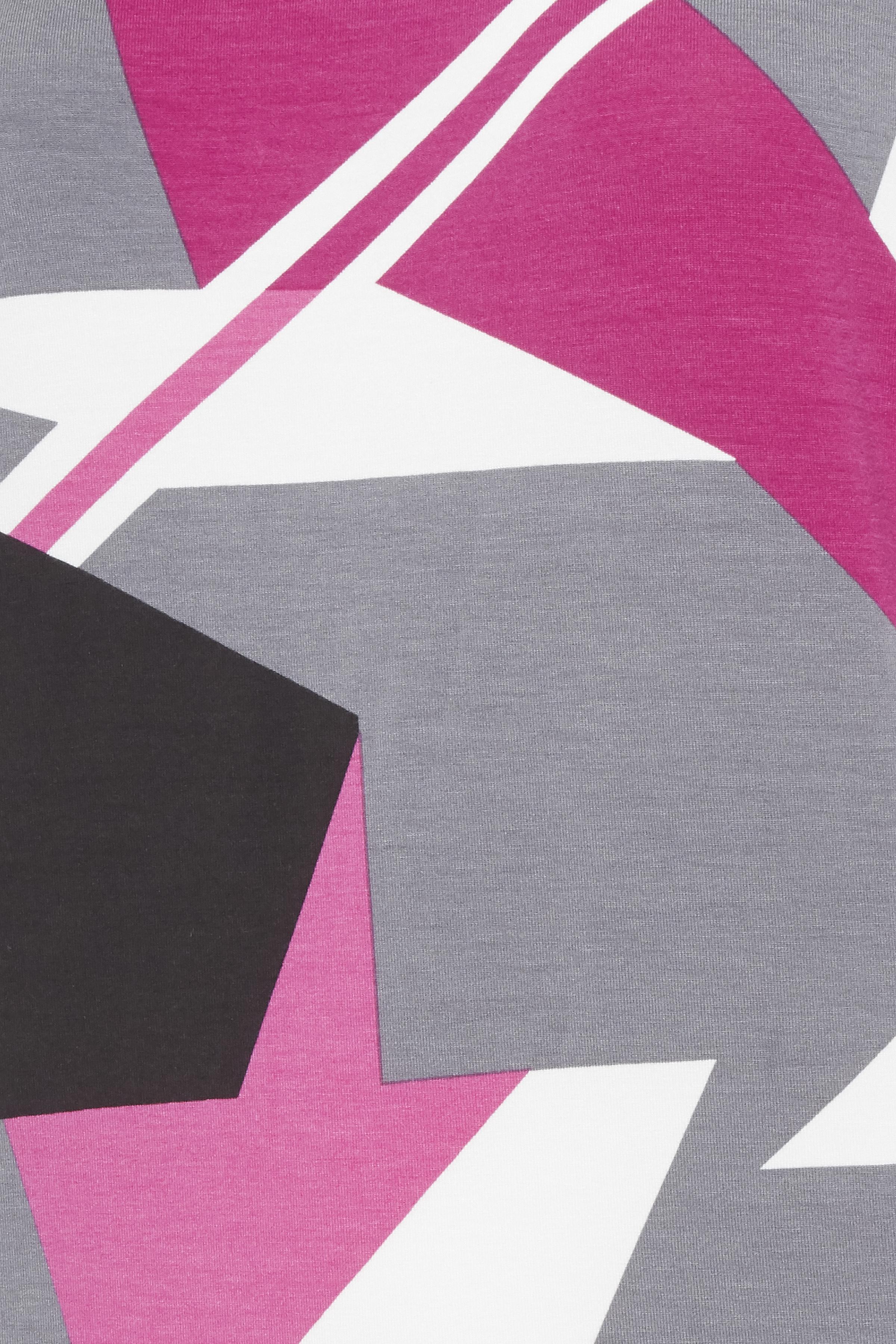 Fuchisia/grå Kortærmet T-shirt fra Fransa – Køb Fuchisia/grå Kortærmet T-shirt fra str. XS-XXL her