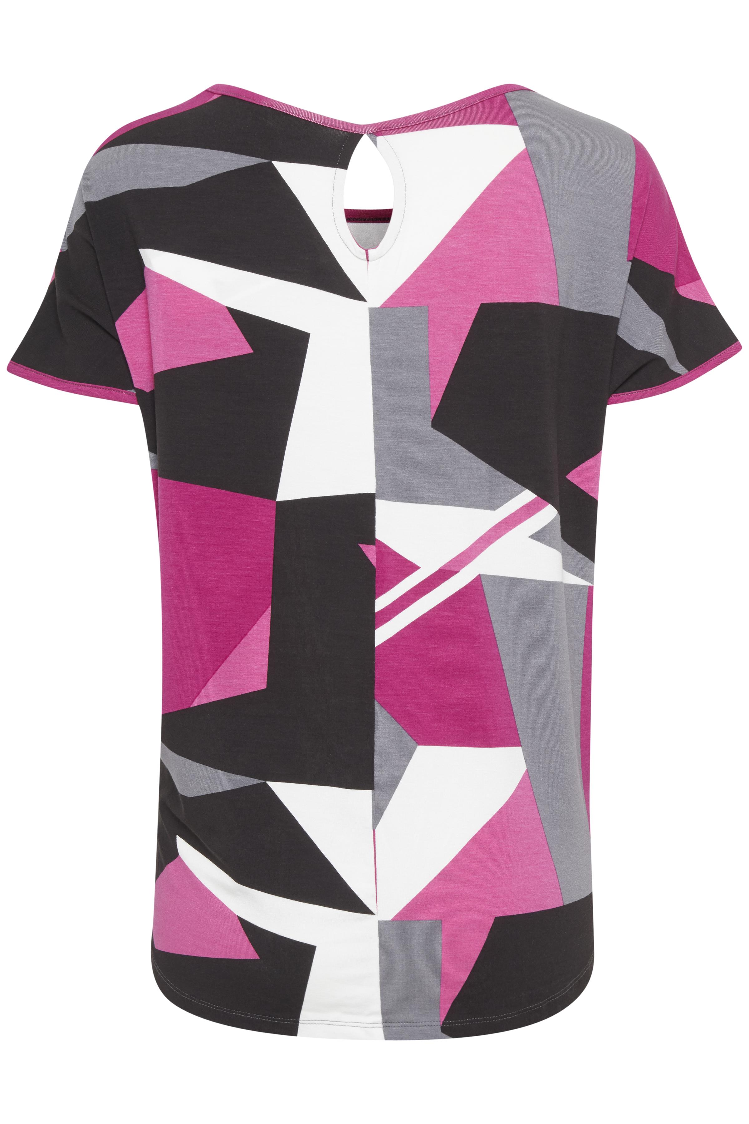 Fuchisia/grå Kortärmad T-shirt från Fransa – Köp Fuchisia/grå Kortärmad T-shirt från stl. XS-XXL här