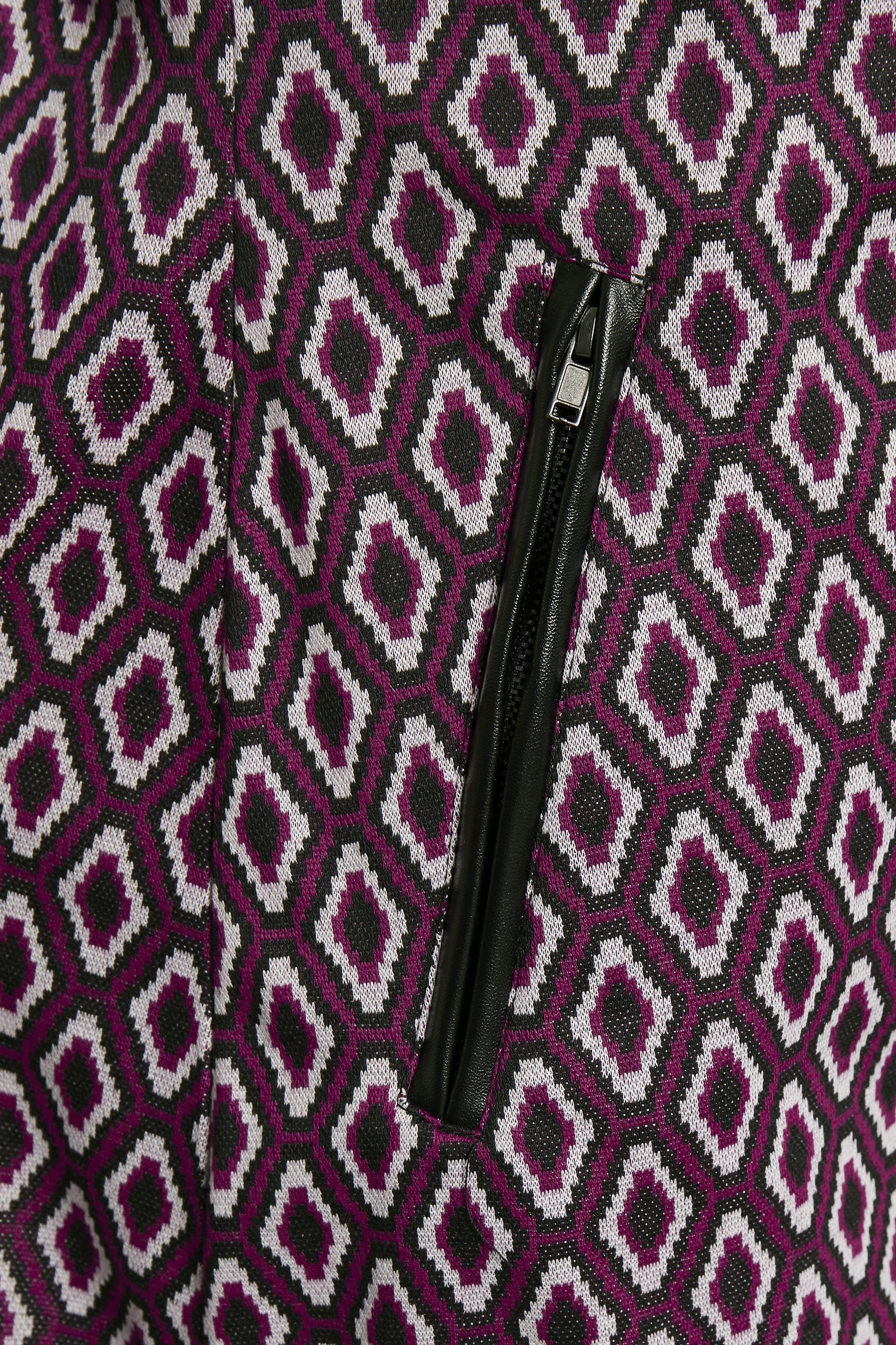 Fuchsia/hvid Kjole fra Fransa – Køb Fuchsia/hvid Kjole fra str. XS-XXL her