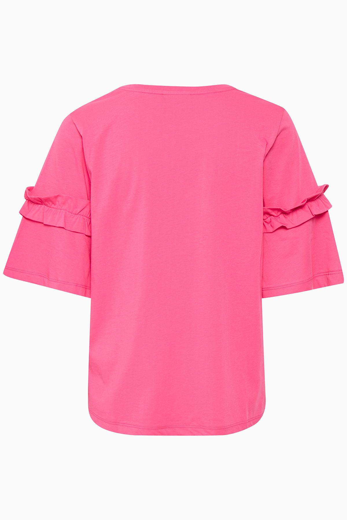 Fuchsia Kortærmet T-shirt fra Kaffe – Køb Fuchsia Kortærmet T-shirt fra str. XS-XXL her