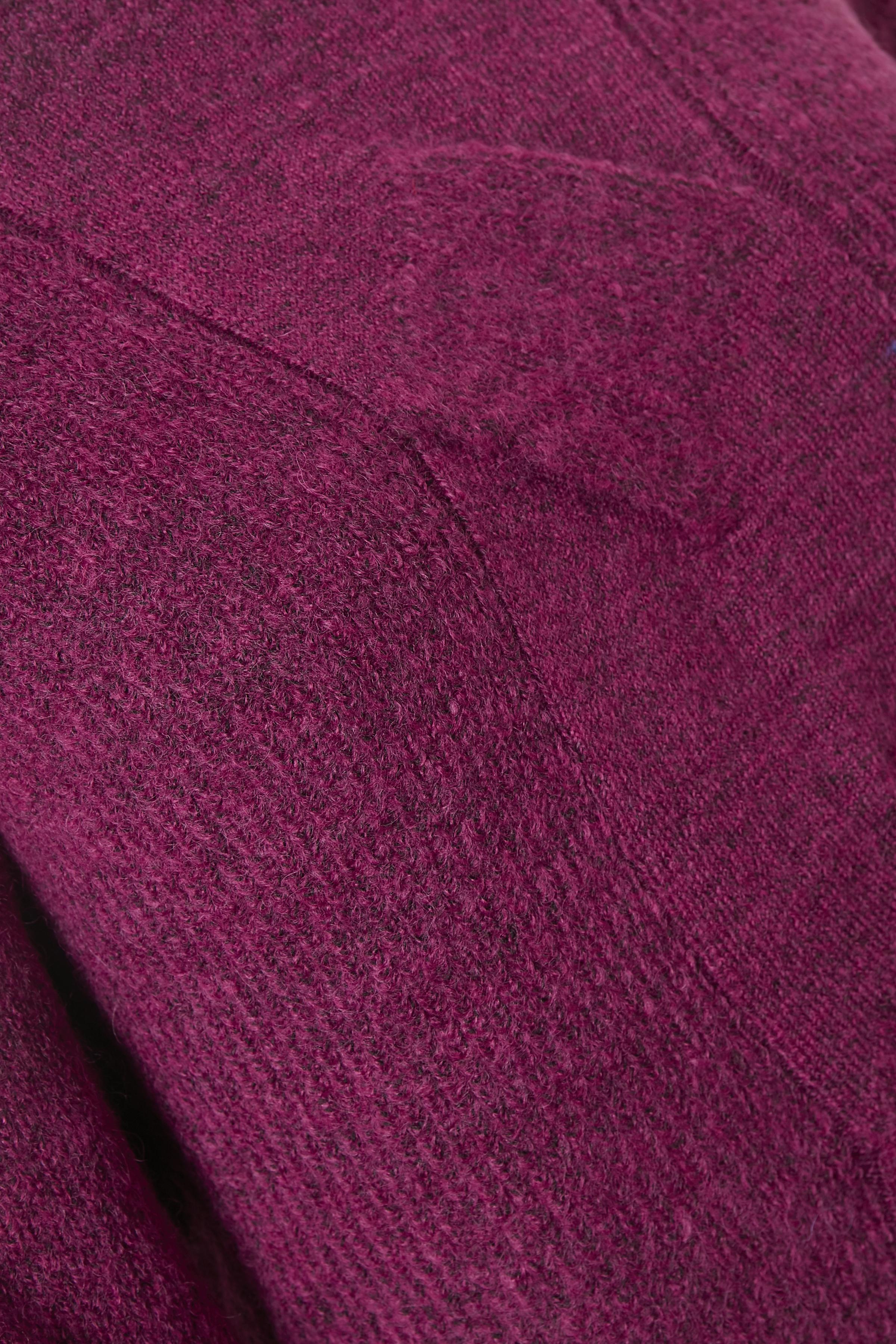 Fuchsia melerad Stickad pullover från Fransa – Köp Fuchsia melerad Stickad pullover från stl. XS-XXL här