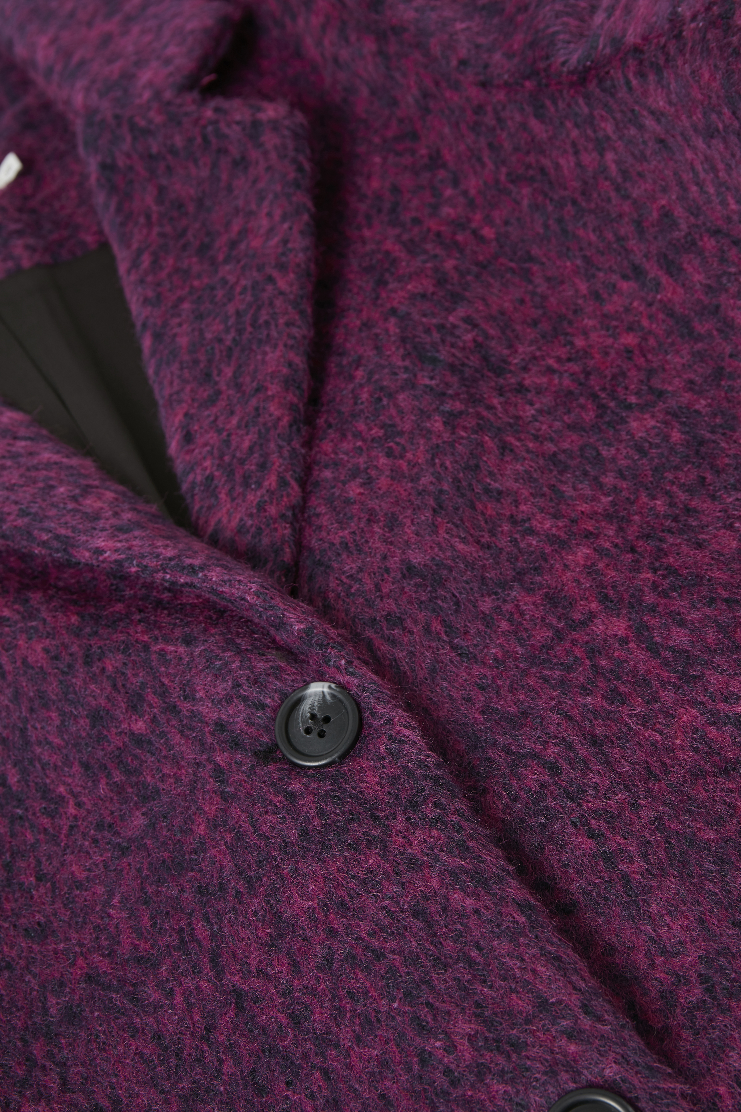 Fuchsia meliert Mantel von Kaffe – Shoppen Sie Fuchsia meliert Mantel ab Gr. 34-46 hier