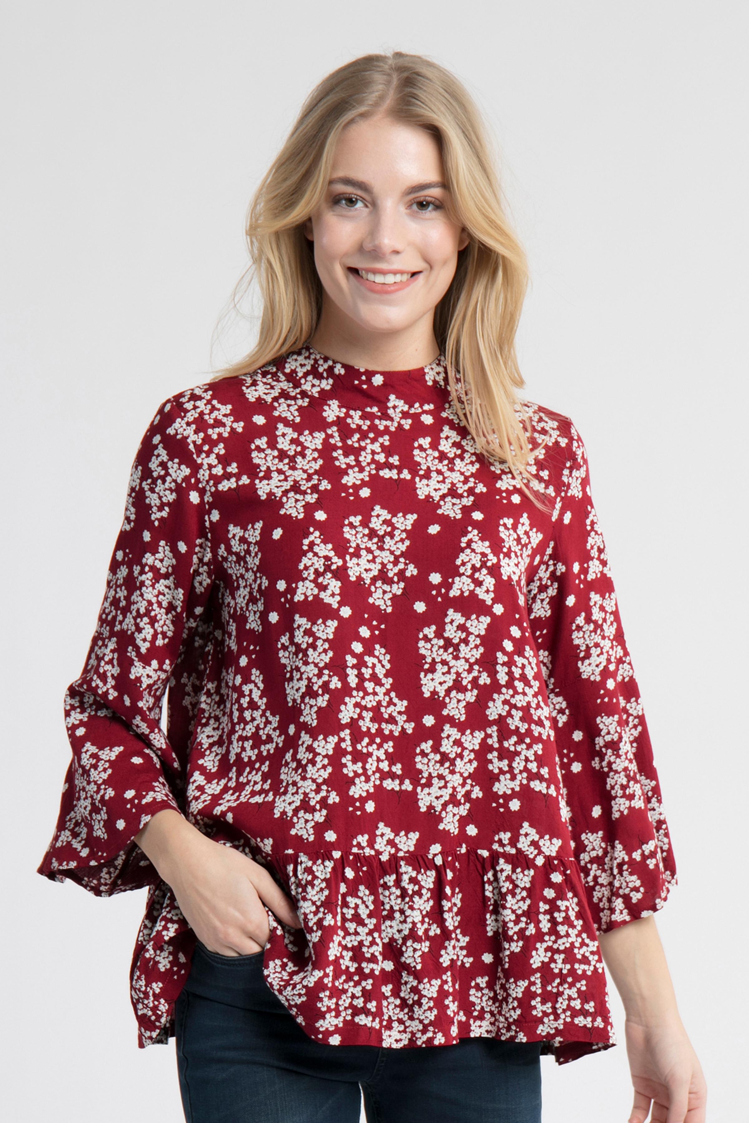 Gebranntes rot/wollweiß Kurzarm-Bluse von Kaffe – Shoppen Sie Gebranntes rot/wollweiß Kurzarm-Bluse ab Gr. 34-46 hier