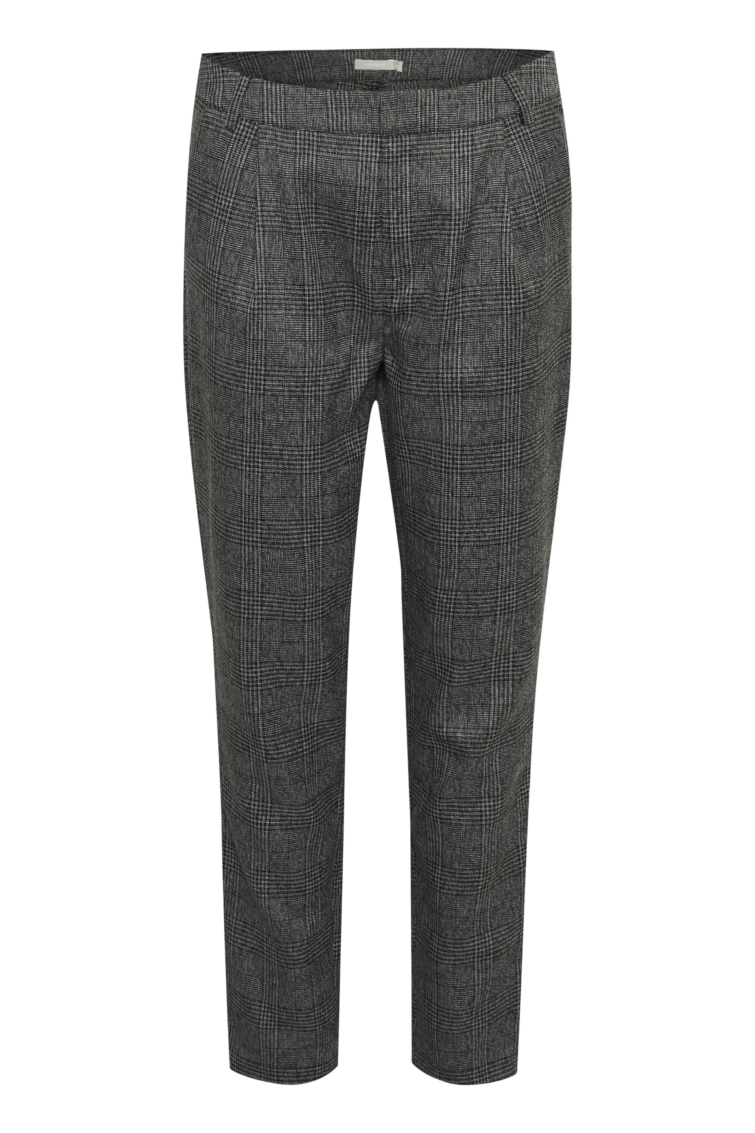 Image of BonA Parte Dame Imaan bukser med fast linning, bæltestropper og lynlås - Grå