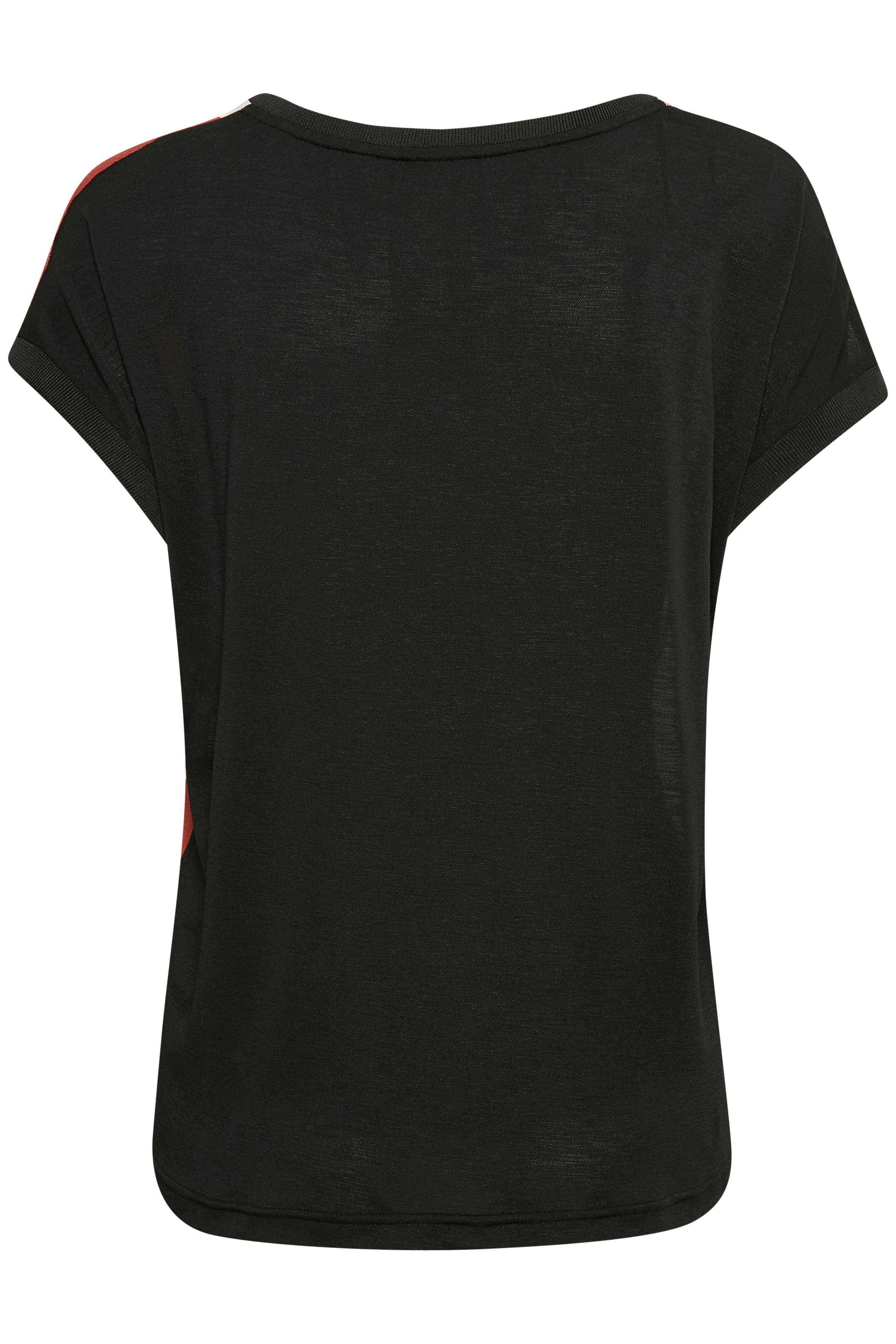 Grå/brændt rød Kortærmet T-shirt fra Fransa – Køb Grå/brændt rød Kortærmet T-shirt fra str. XS-XXL her