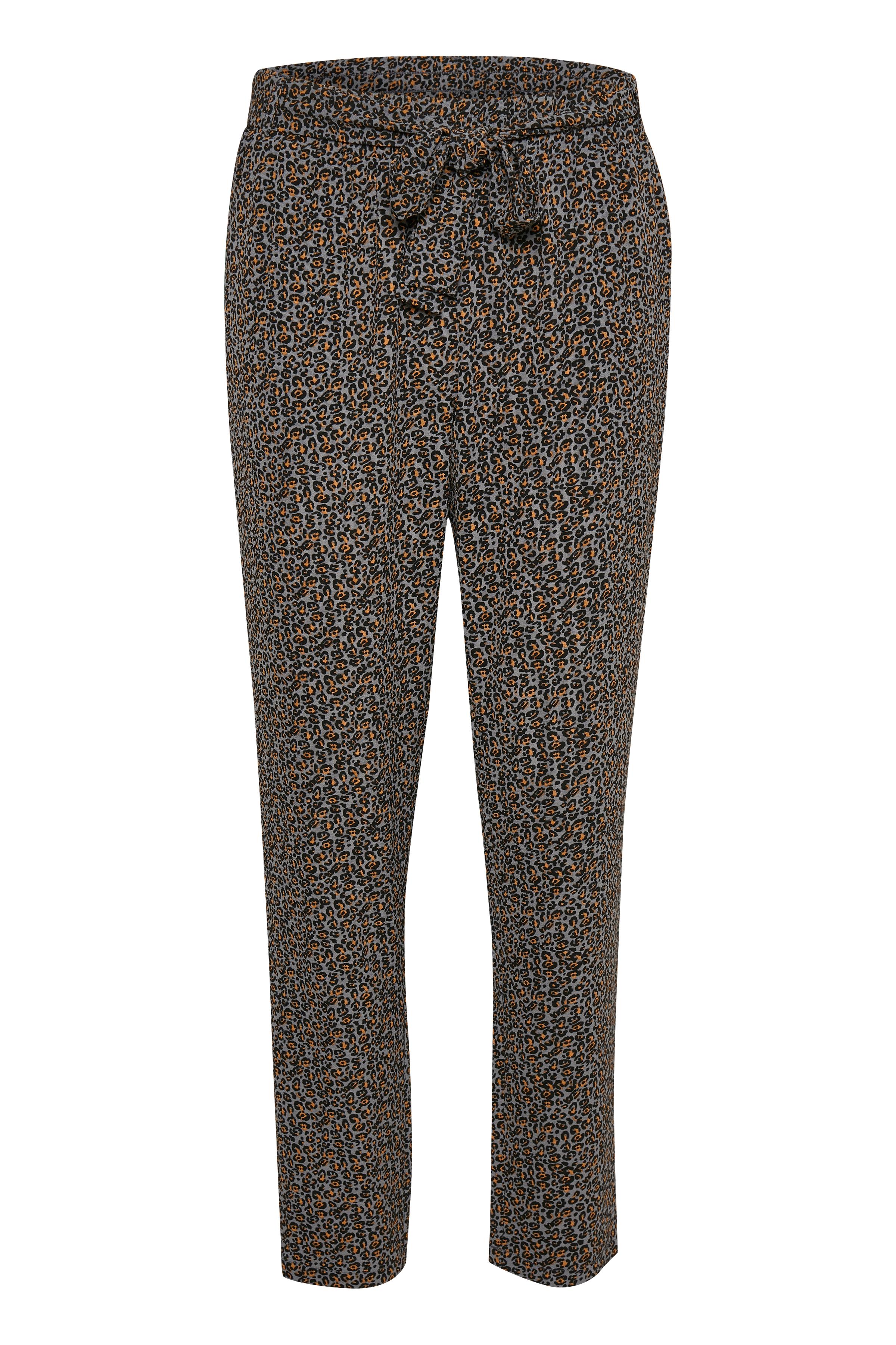 Grå/lysebrun Casual bukser fra Kaffe – Køb Grå/lysebrun Casual bukser fra str. 34-46 her