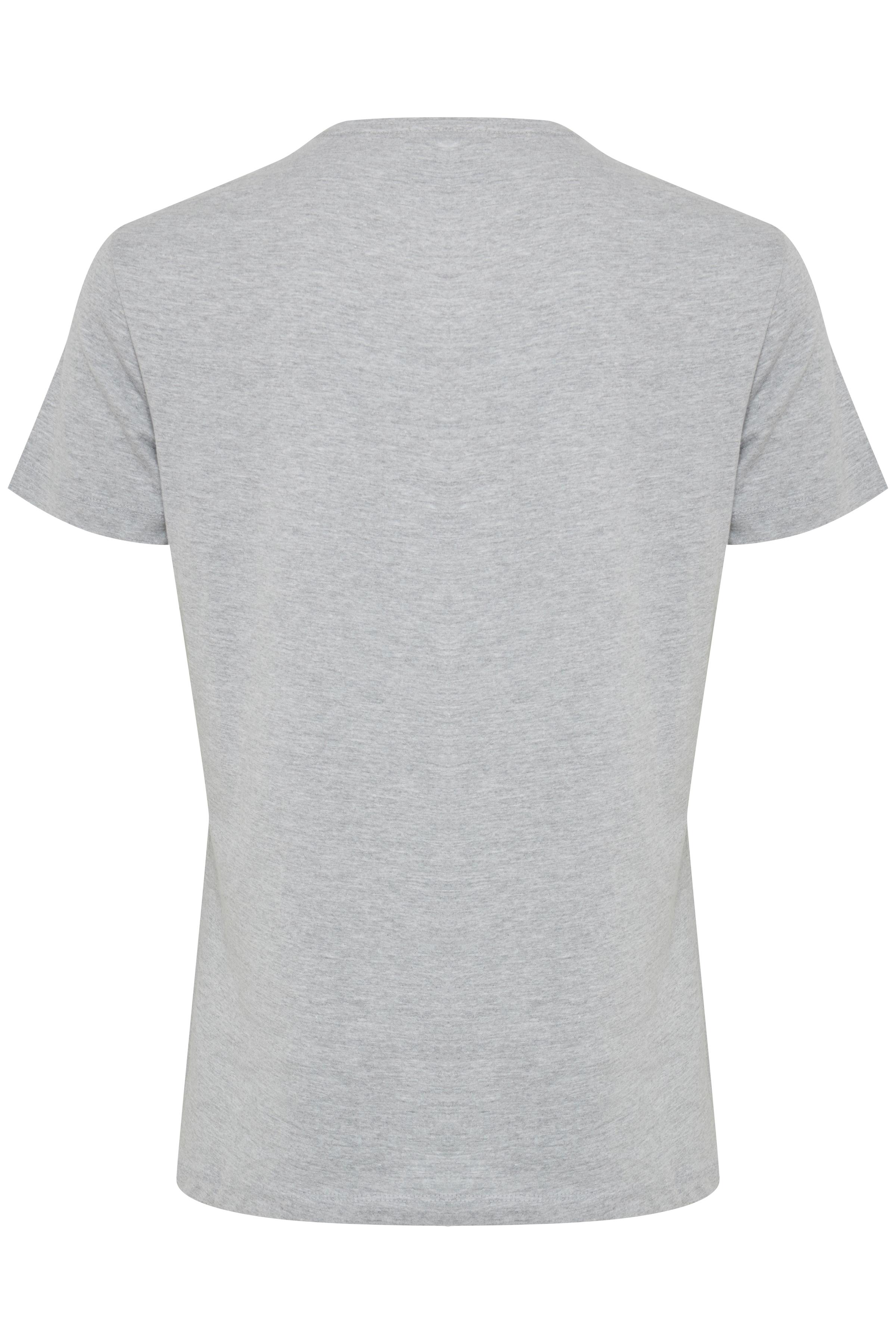 Gråmelerad Kortärmad T-shirt från Blend He – Köp Gråmelerad Kortärmad T-shirt från stl. S-3XL här