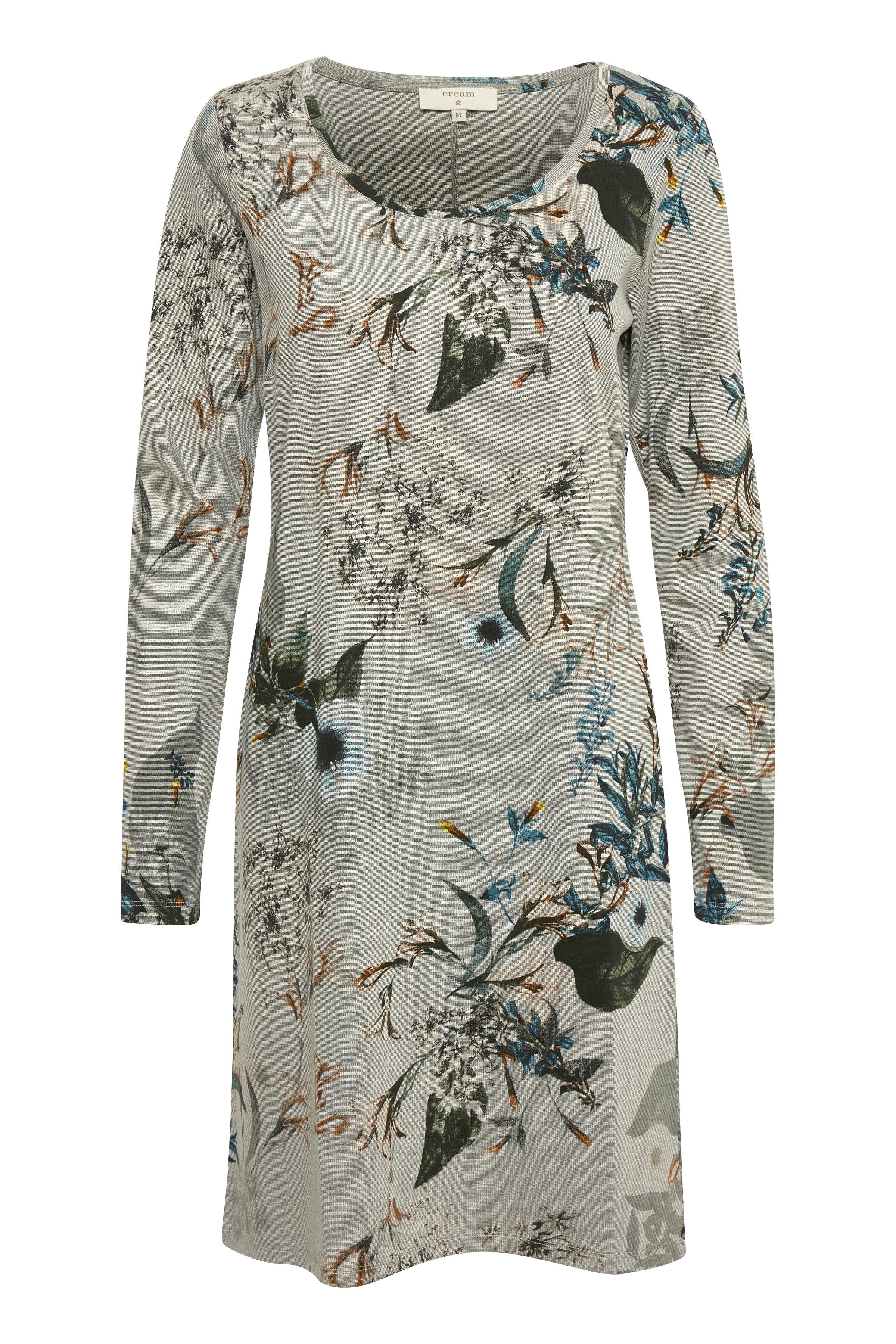 Gråmelerad/off-white Strickad klänning från Cream – Köp Gråmelerad/off-white Strickad klänning från stl. XS-XXL här