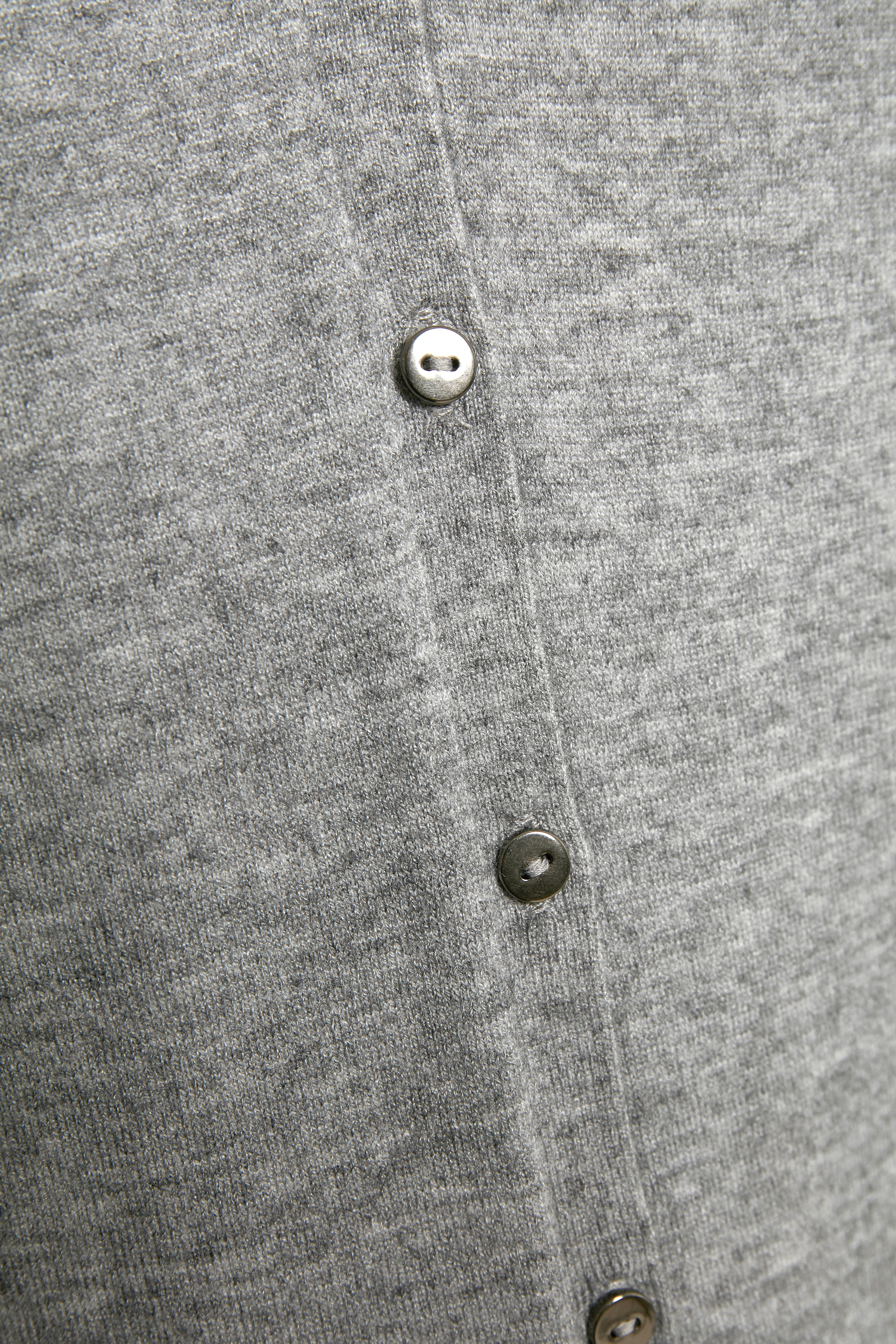 Gråmelerad Stickad cardigan från Bon'A Parte – Köp Gråmelerad Stickad cardigan från stl. S-2XL här