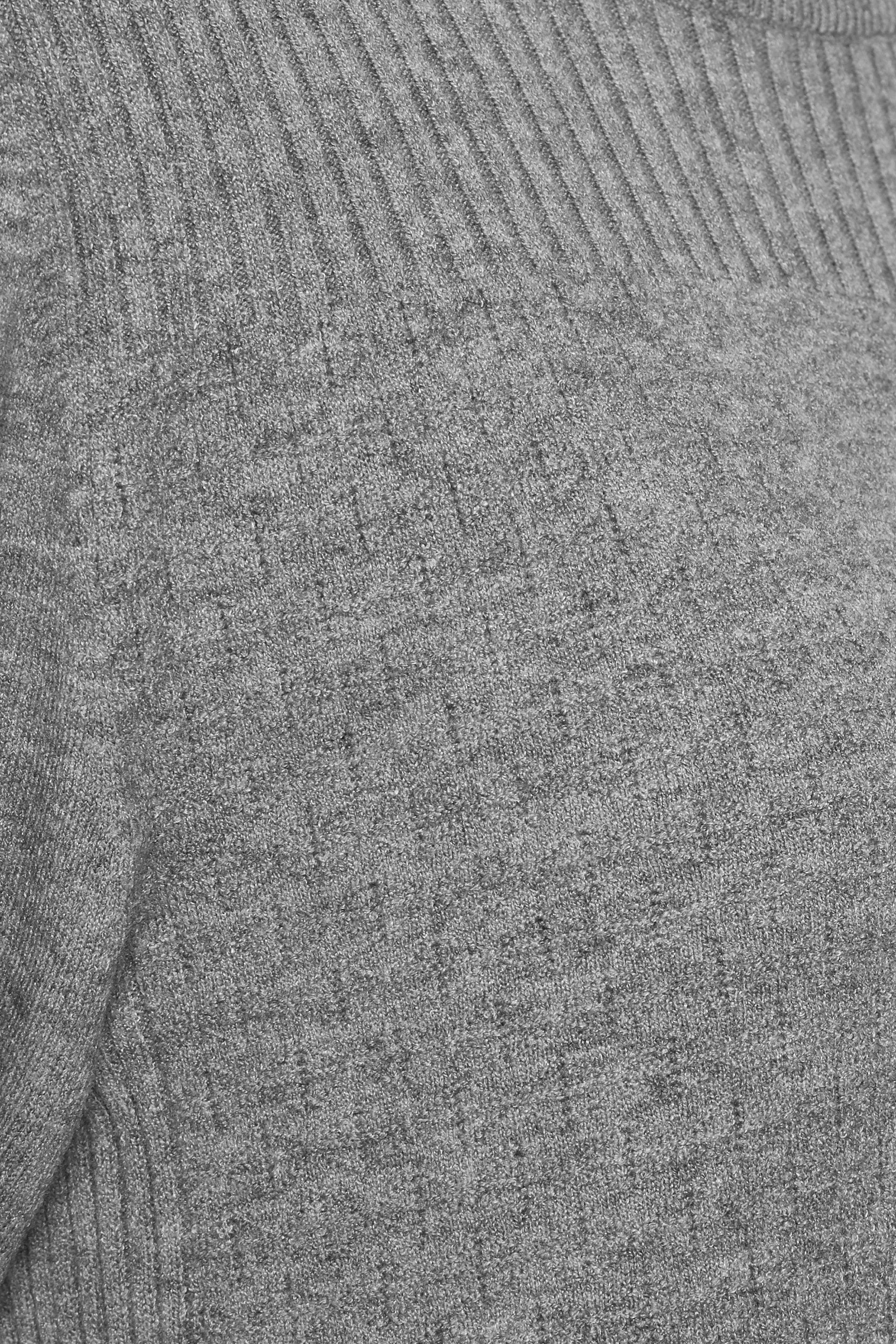 Gråmelerad Stickad tunika från Bon'A Parte – Köp Gråmelerad Stickad tunika från stl. S-2XL här