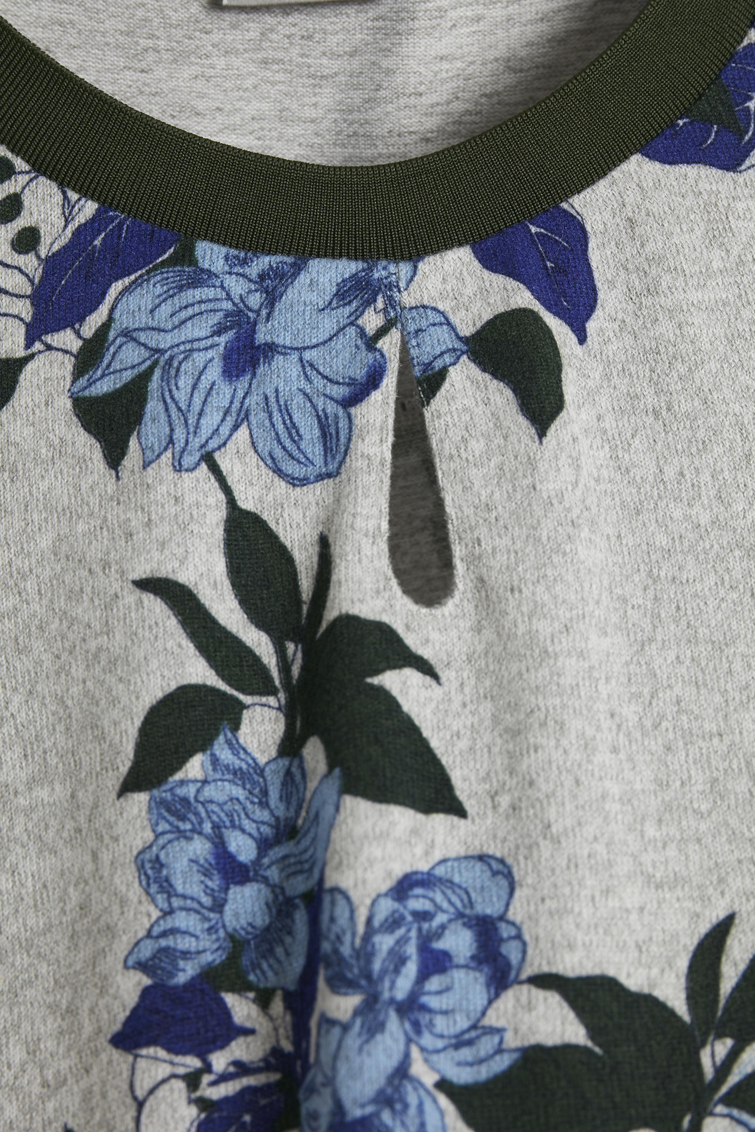 Gråmeleret/blå Langærmet bluse fra Fransa – Køb Gråmeleret/blå Langærmet bluse fra str. XS-XXL her