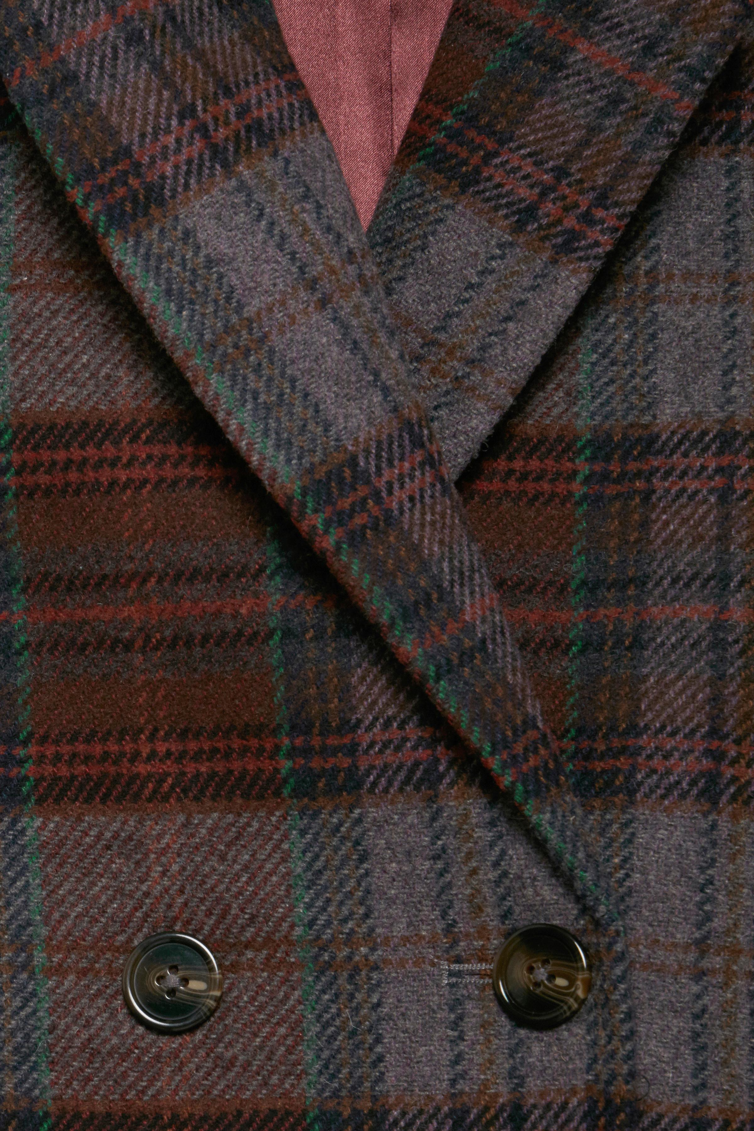 Gråmeleret/bordeaux Frakke fra Dranella – Køb Gråmeleret/bordeaux Frakke fra str. 34-46 her