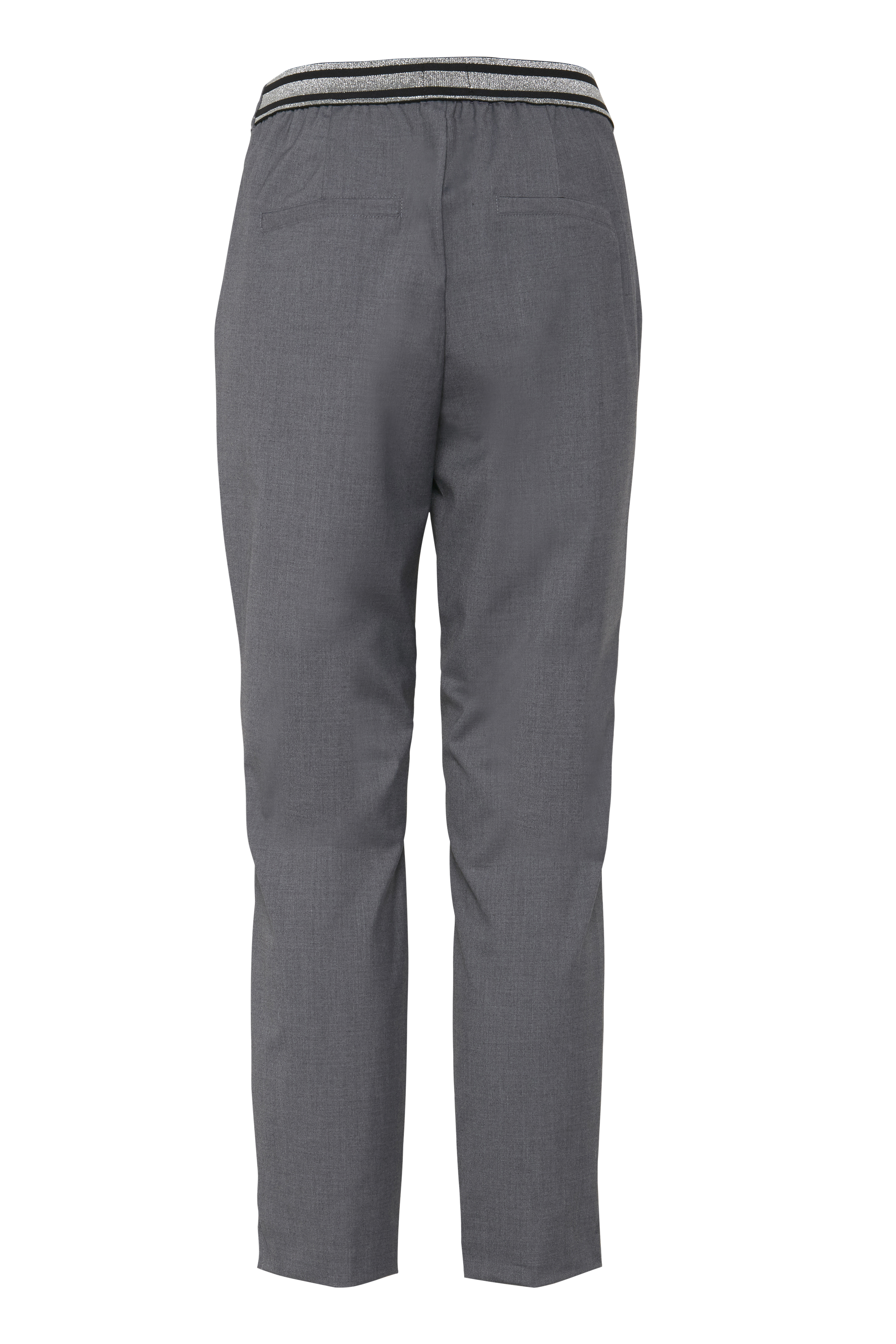 Gråmeleret Casual bukser fra Pulz Jeans – Køb Gråmeleret Casual bukser fra str. 32-46 her