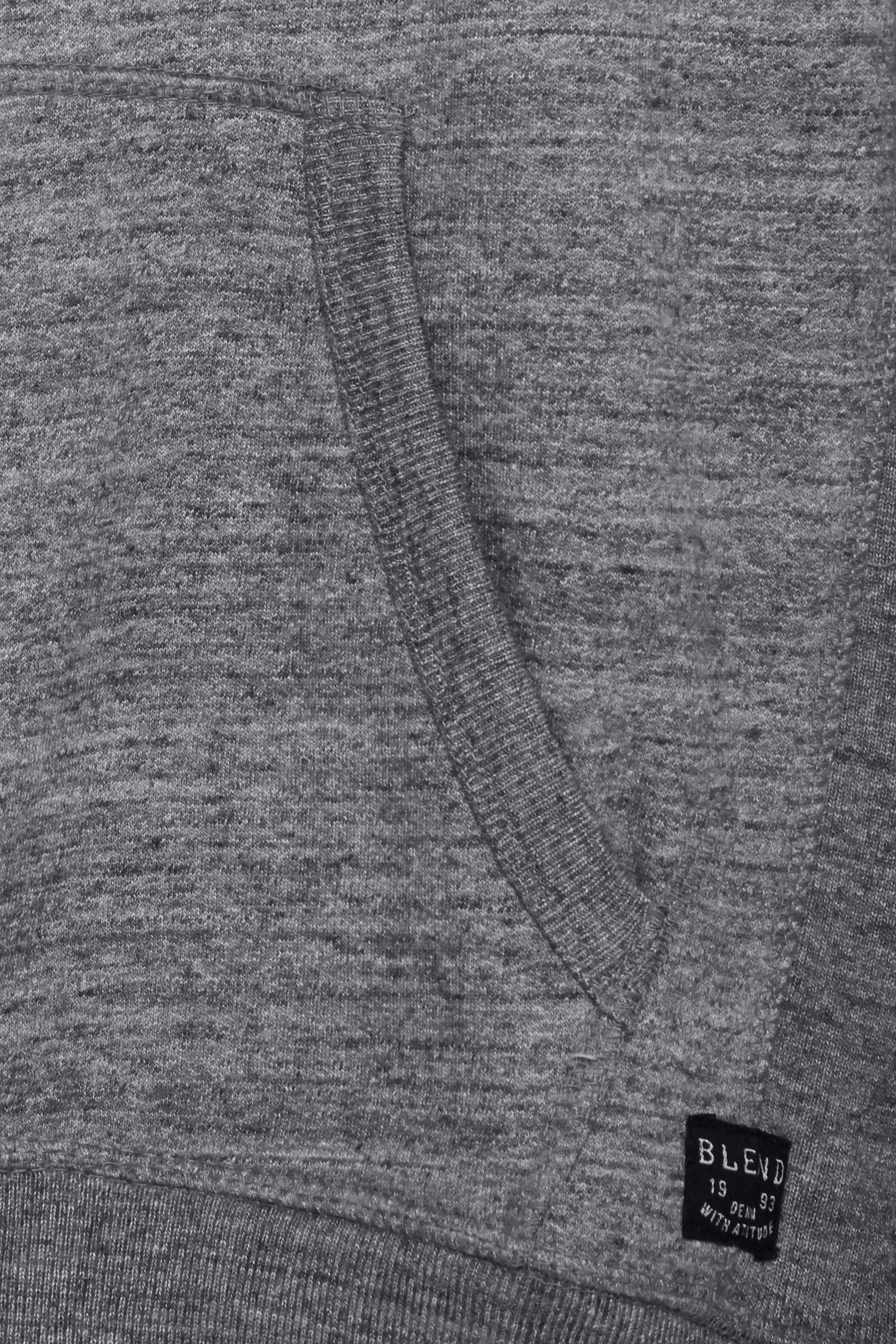 Gråmeleret Hættetrøje med lynlås fra Blend He – Køb Gråmeleret Hættetrøje med lynlås fra str. S-3XL her