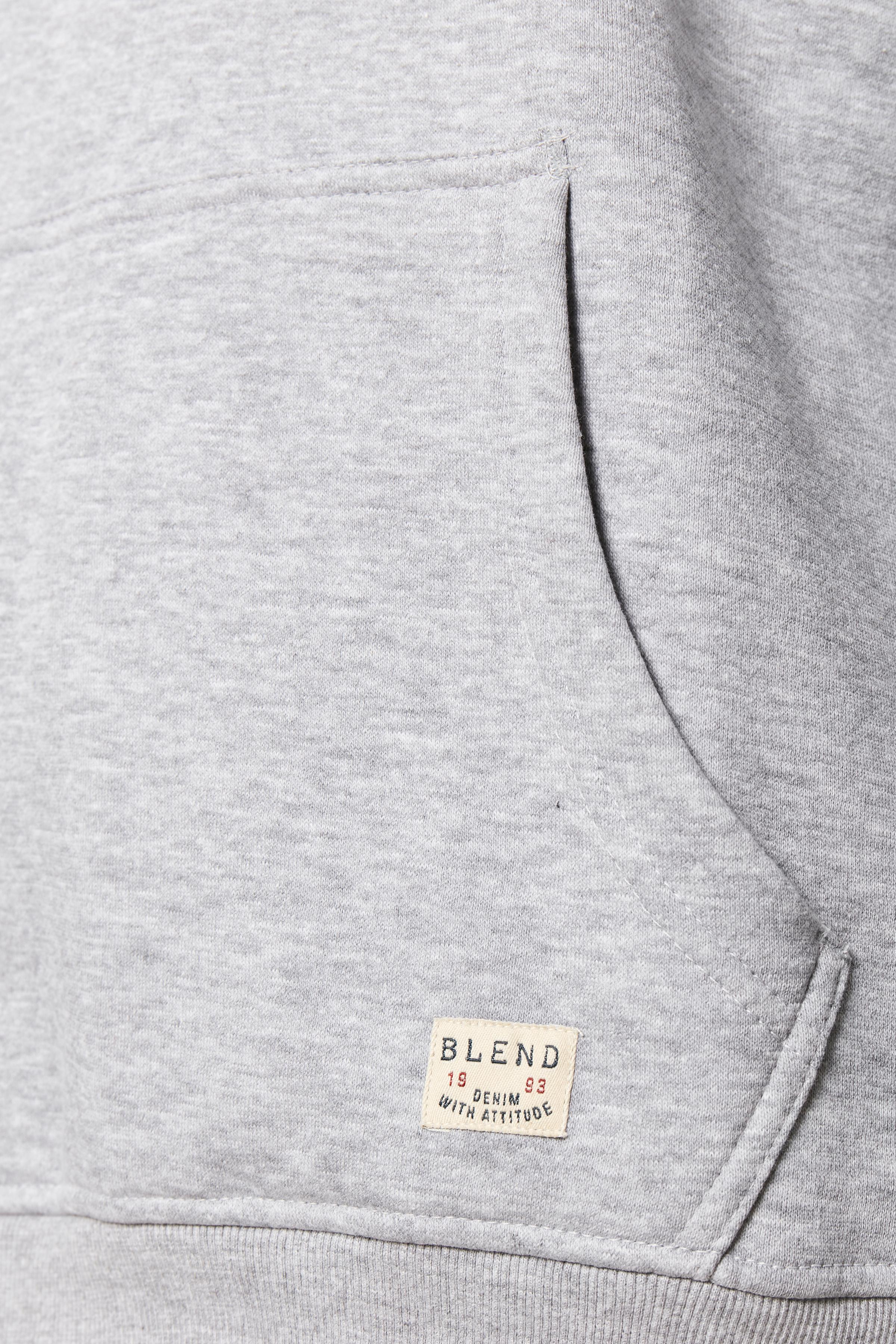 Gråmeleret Hættetrøje fra Blend He – Køb Gråmeleret Hættetrøje fra str. S-3XL her