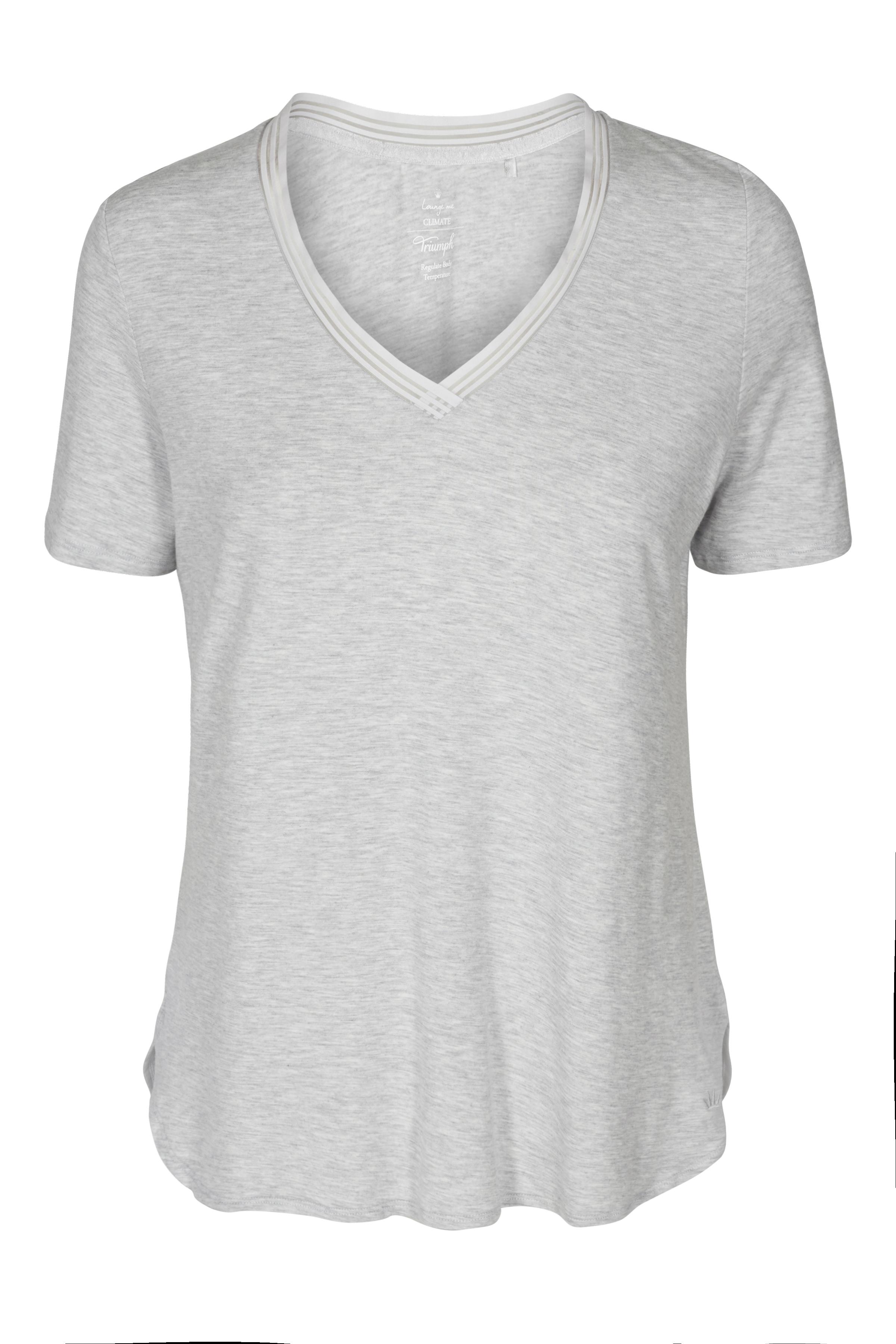 Image of Triumph Dame Homewear bluse - Climate Control - Gråmeleret