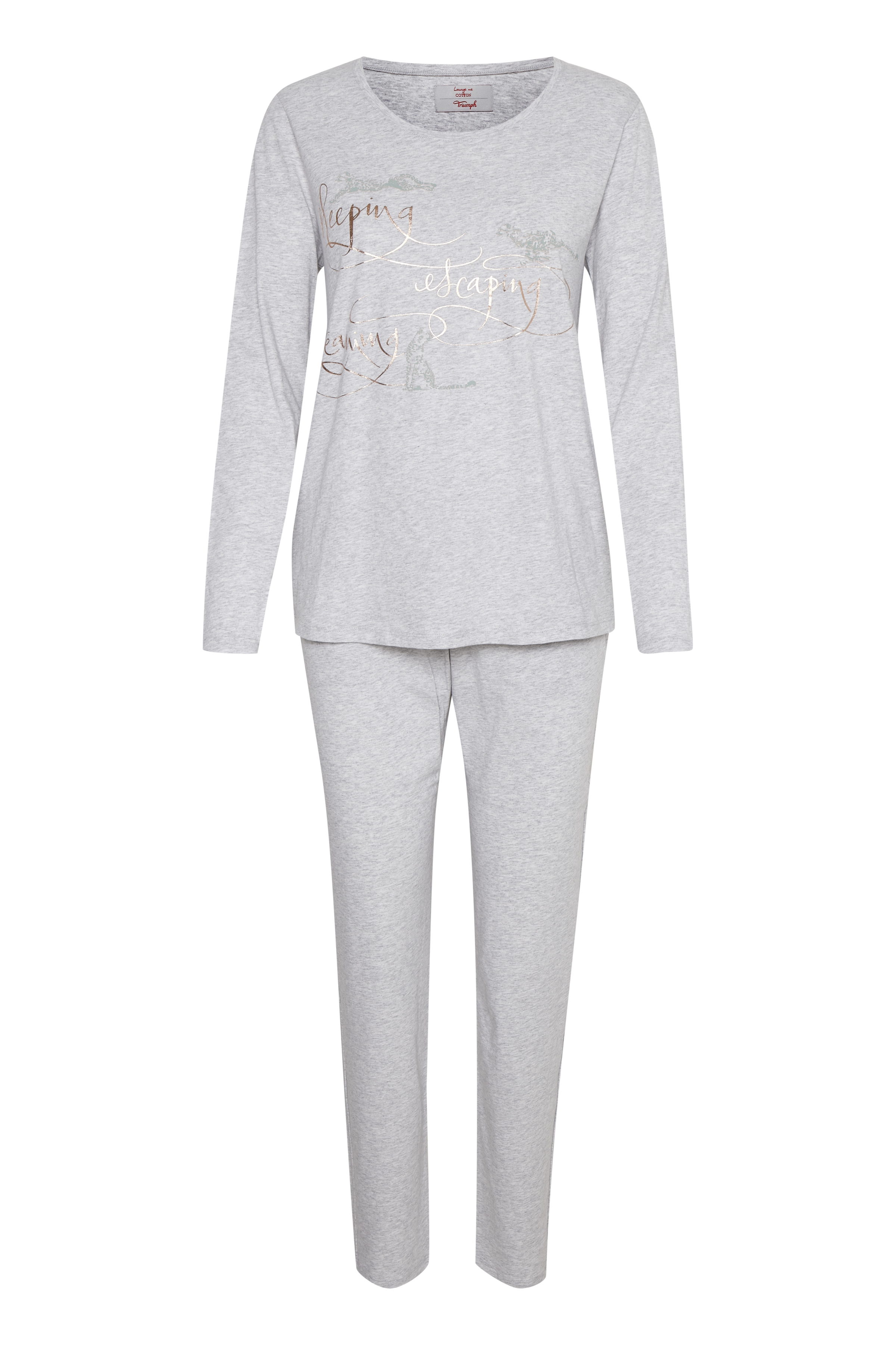 Image of Triumph Dame Homewear sæt - Gråmeleret