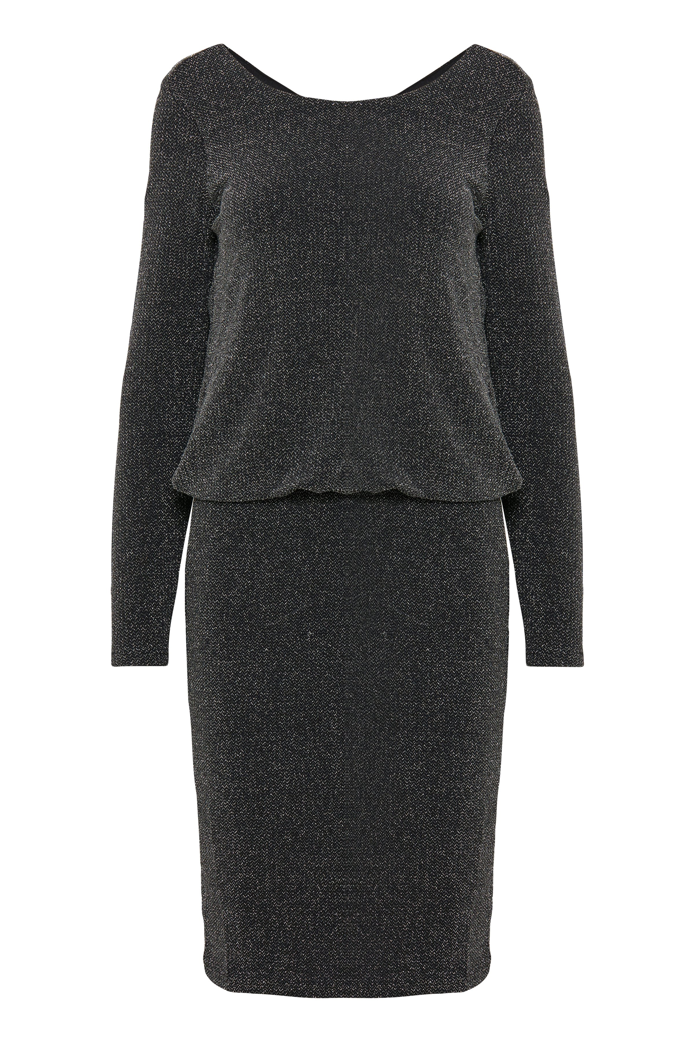 Fransa Dame Rigtig flot Liris kjole - Gråmeleret