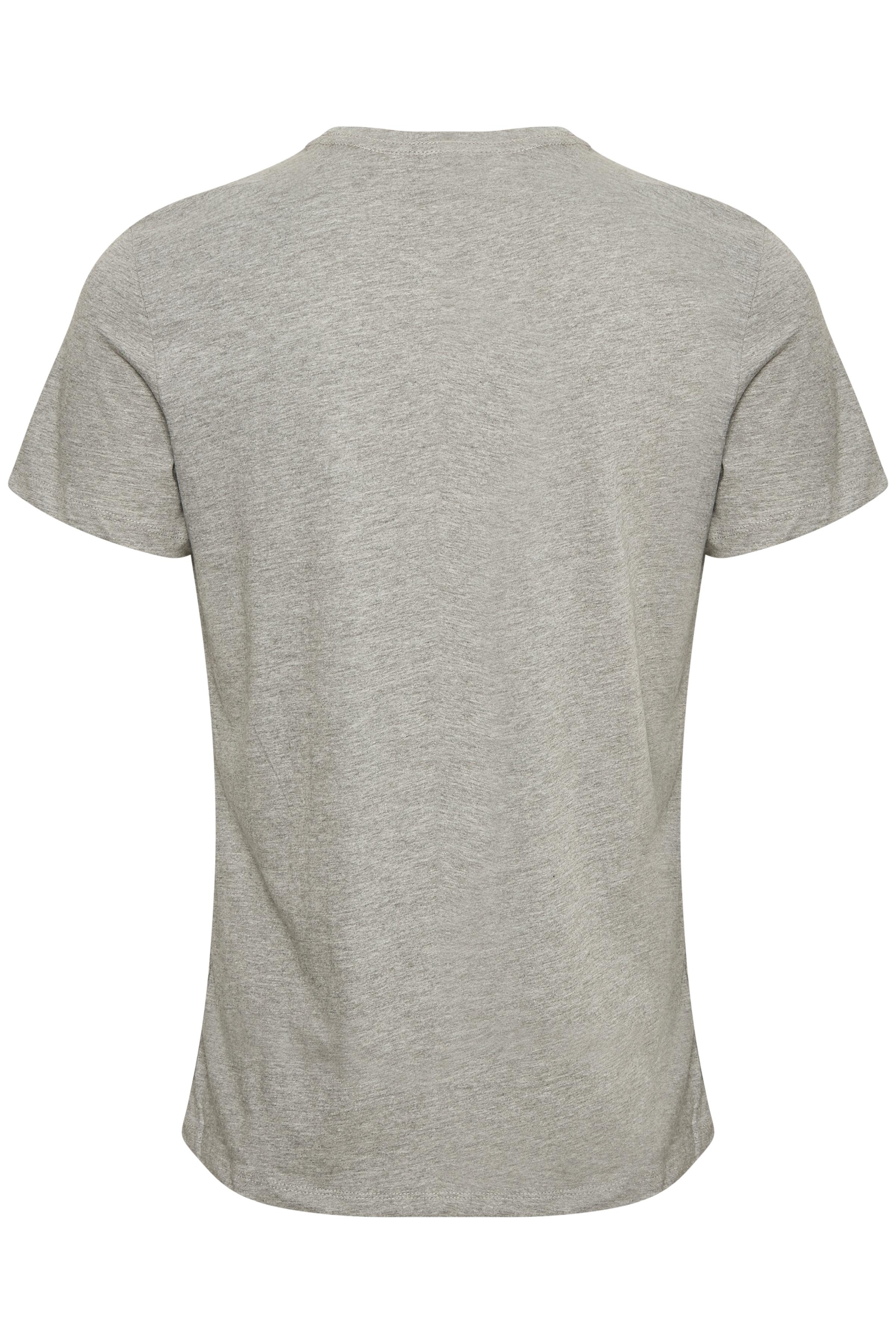Gråmeleret Kortærmet T-shirt fra Blend He – Køb Gråmeleret Kortærmet T-shirt fra str. XS-3XL her