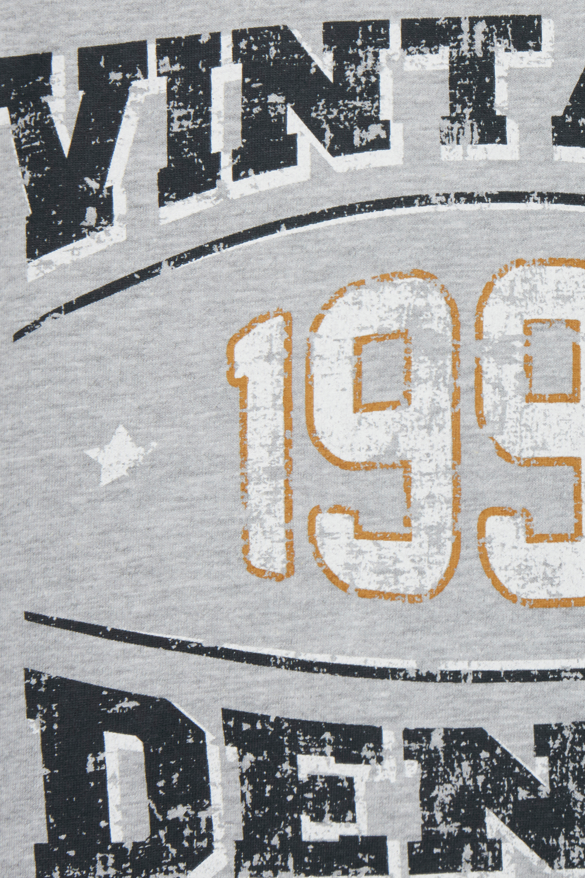 Gråmeleret Kortærmet T-shirt fra Blend He – Køb Gråmeleret Kortærmet T-shirt fra str. S-3XL her