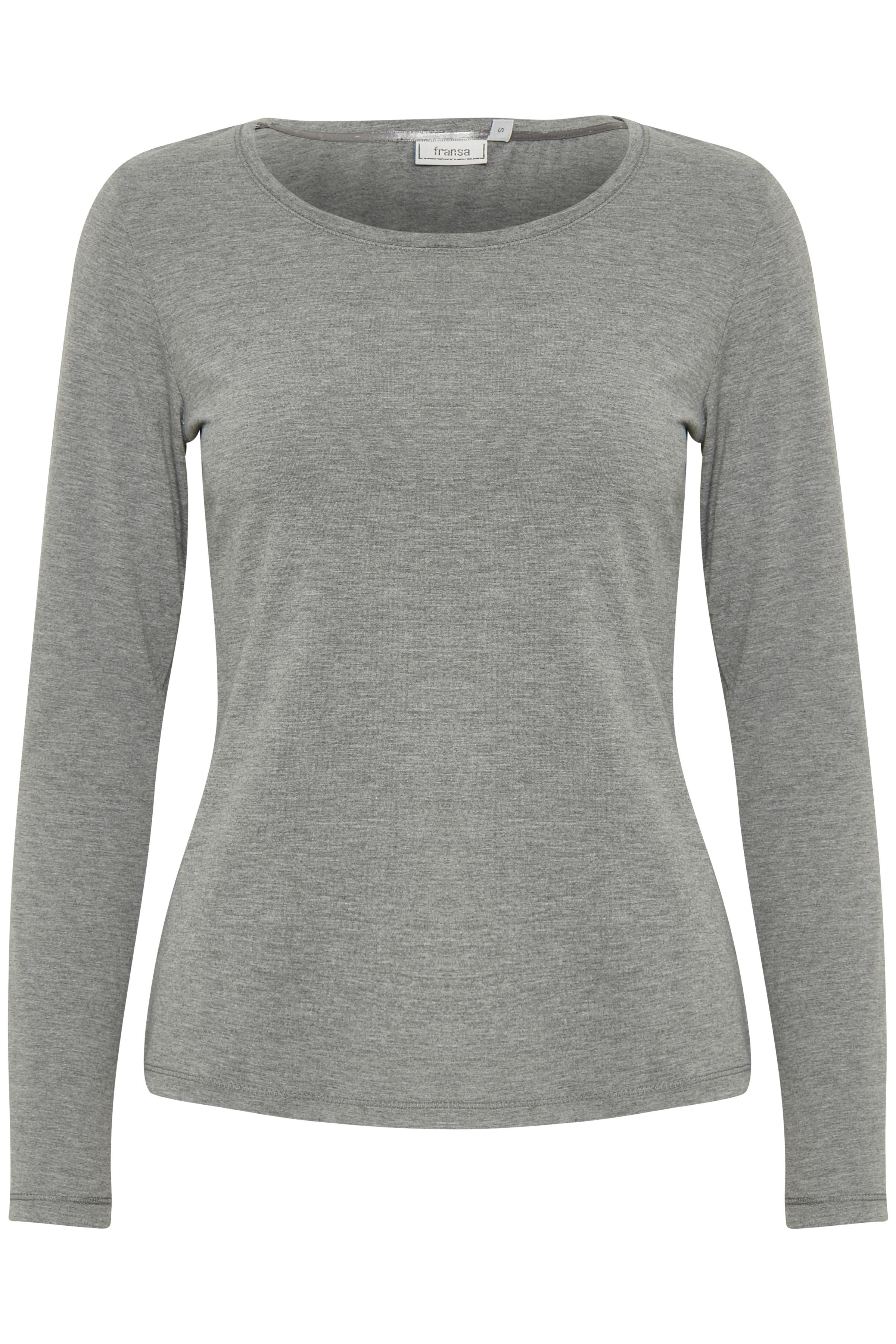 Image of Fransa Dame Langærmet T-shirt - Gråmeleret