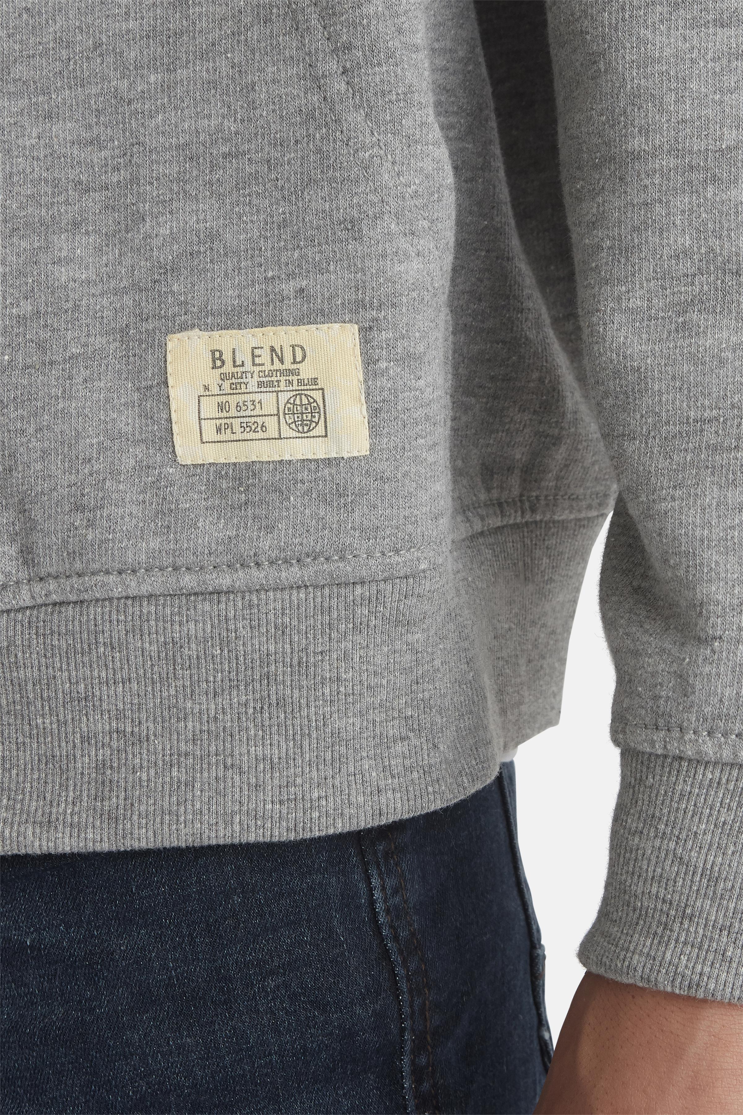 Gråmeleret Sweatshirt fra Blend He – Køb Gråmeleret Sweatshirt fra str. S-3XL her