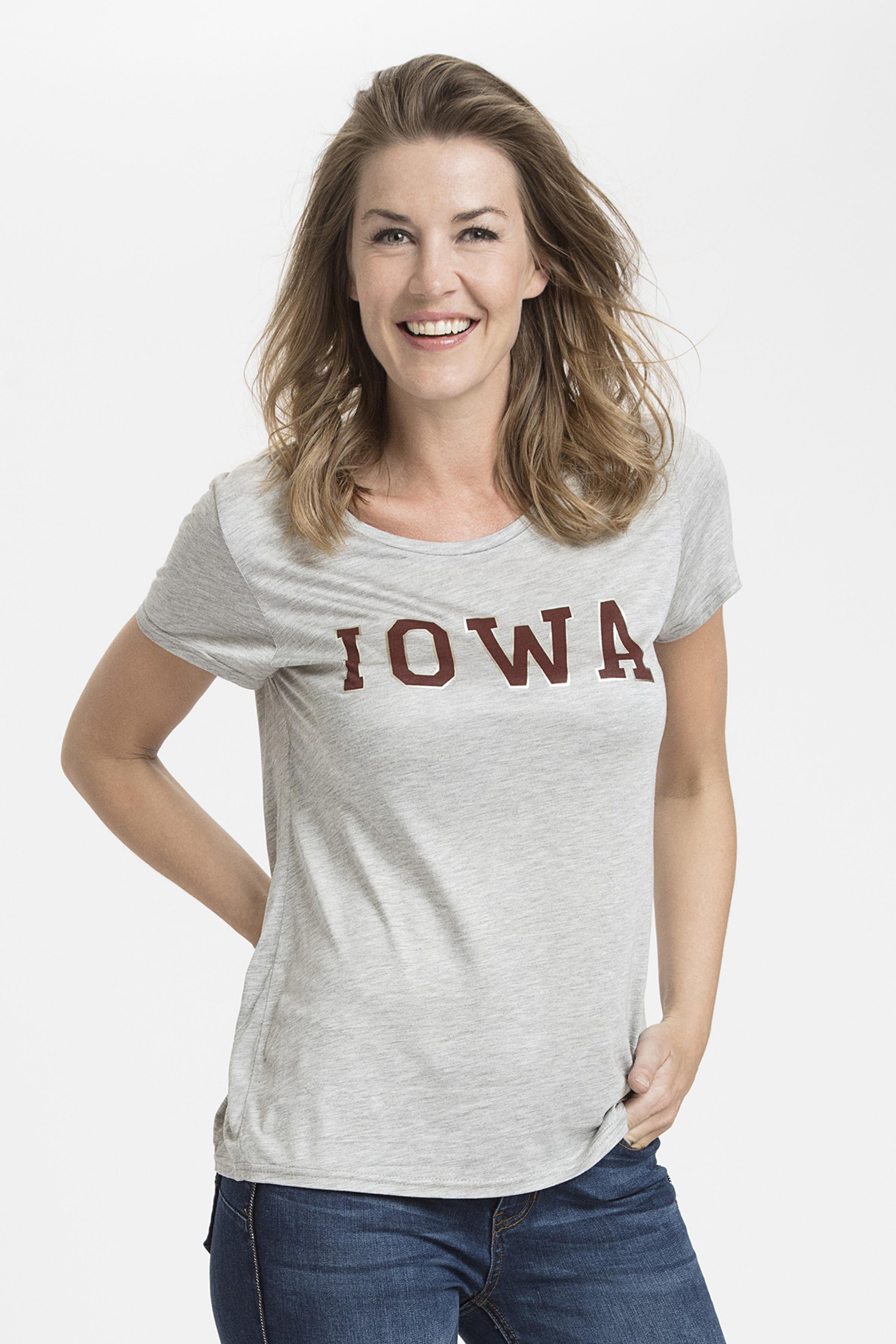 Grau meliert Kurzarm T-Shirt von Kaffe – Shoppen Sie Grau meliert Kurzarm T-Shirt ab Gr. XS-XXL hier