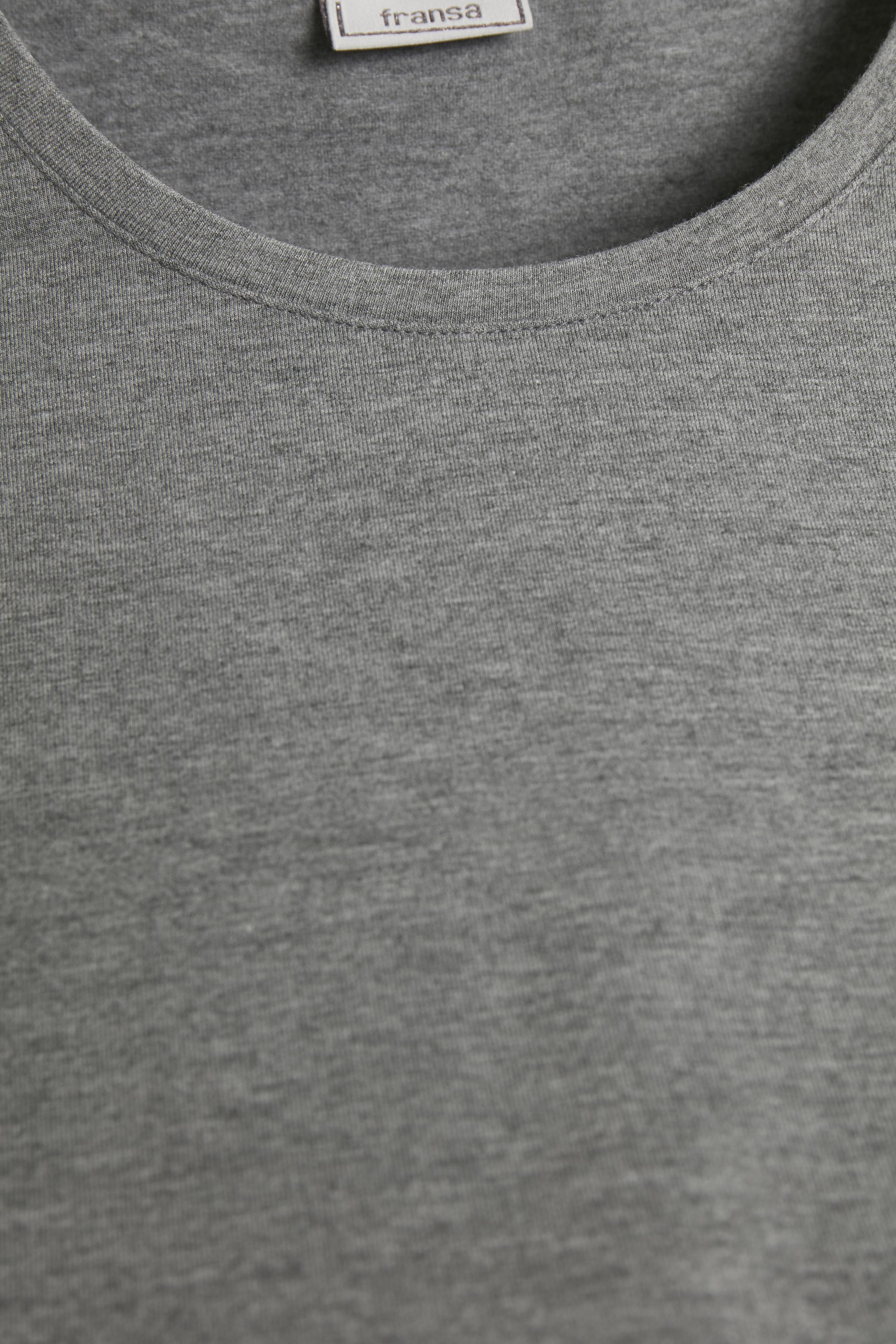 Grau meliert Langarm T-Shirt von Fransa – Shoppen Sie Grau meliert Langarm T-Shirt ab Gr. XS-XXL hier