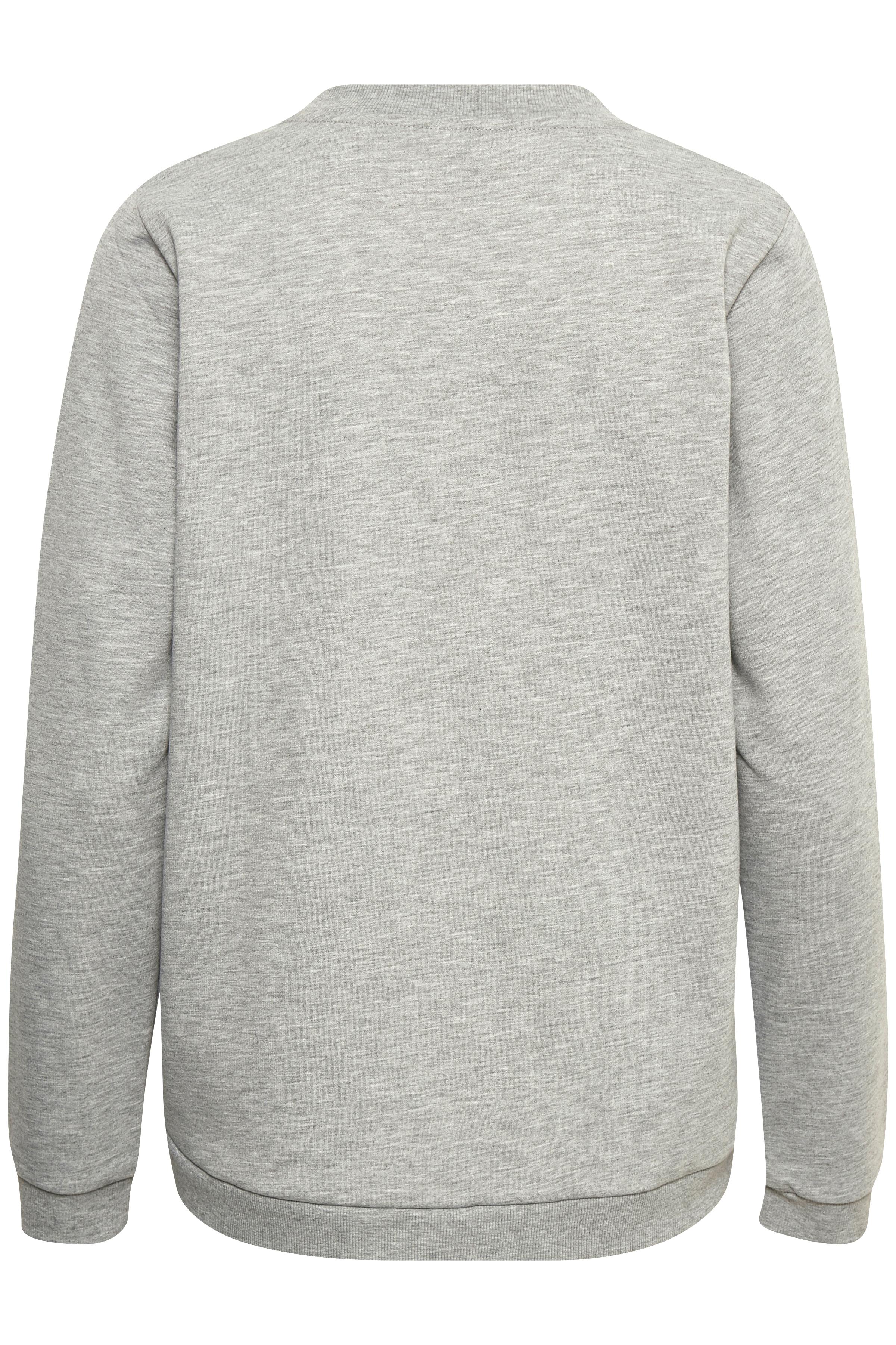 Grau meliert Sweatshirt von Bon'A Parte – Shoppen Sie Grau meliert Sweatshirt ab Gr. S-2XL hier