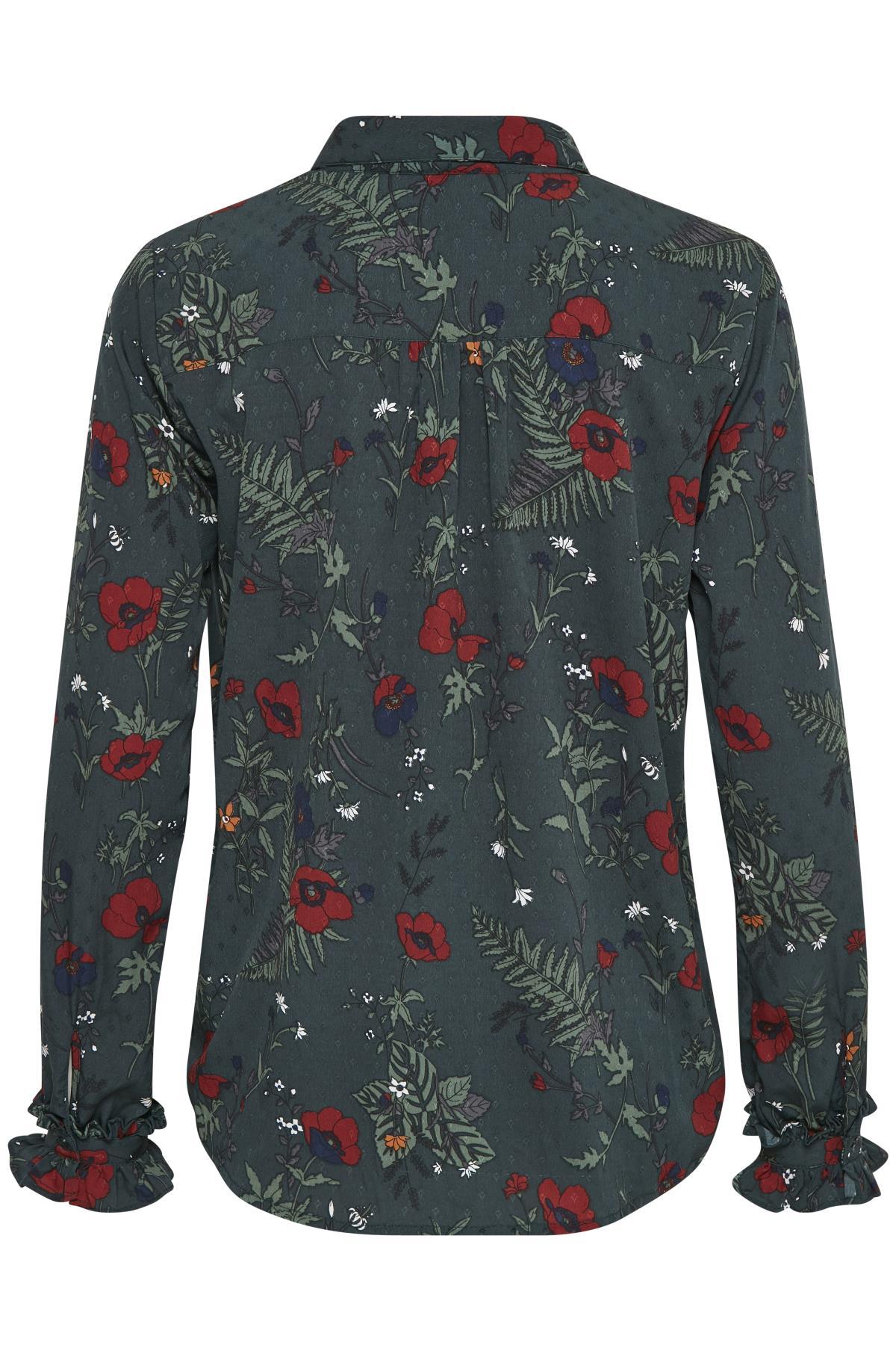 Green Spruce Långärmad skjorta från Kaffe – Köp Green Spruce Långärmad skjorta från stl. 34-46 här