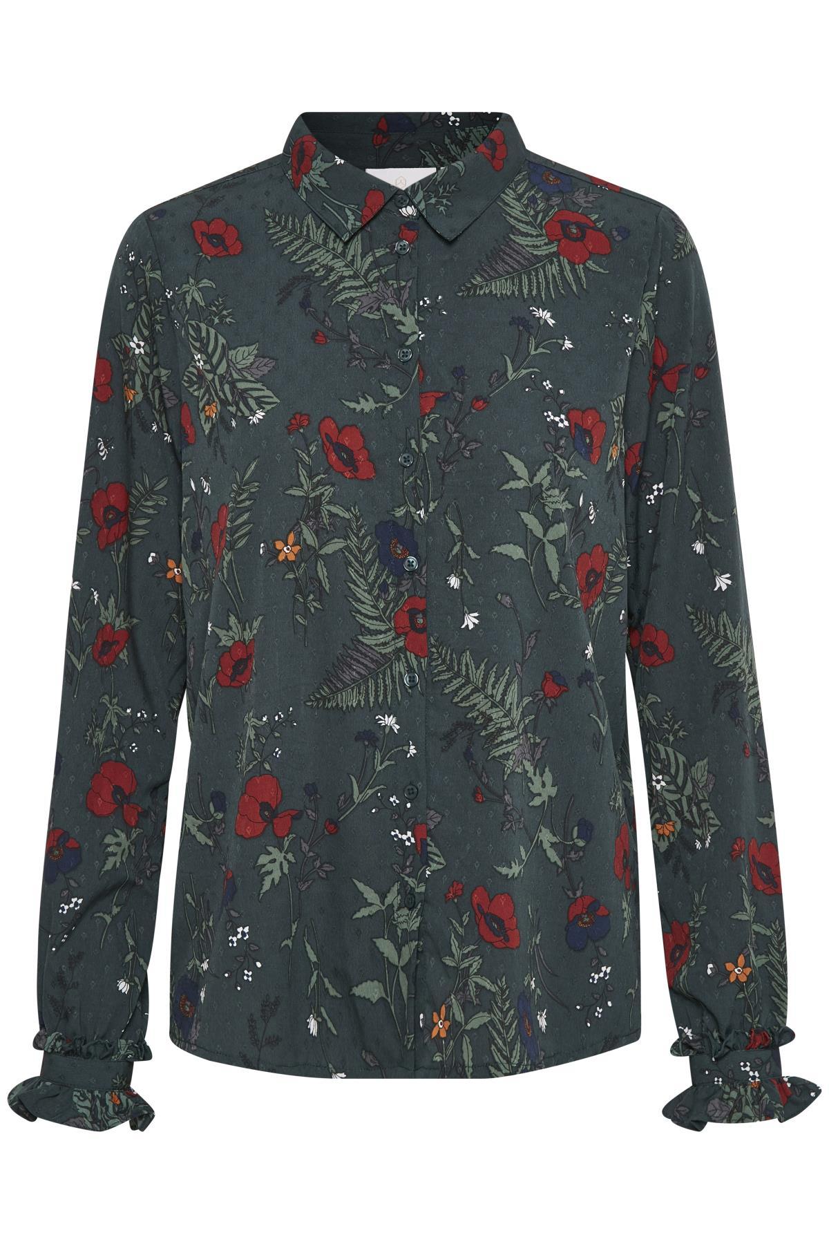 Green Spruce Langærmet skjorte fra Kaffe – Køb Green Spruce Langærmet skjorte fra str. 34-46 her