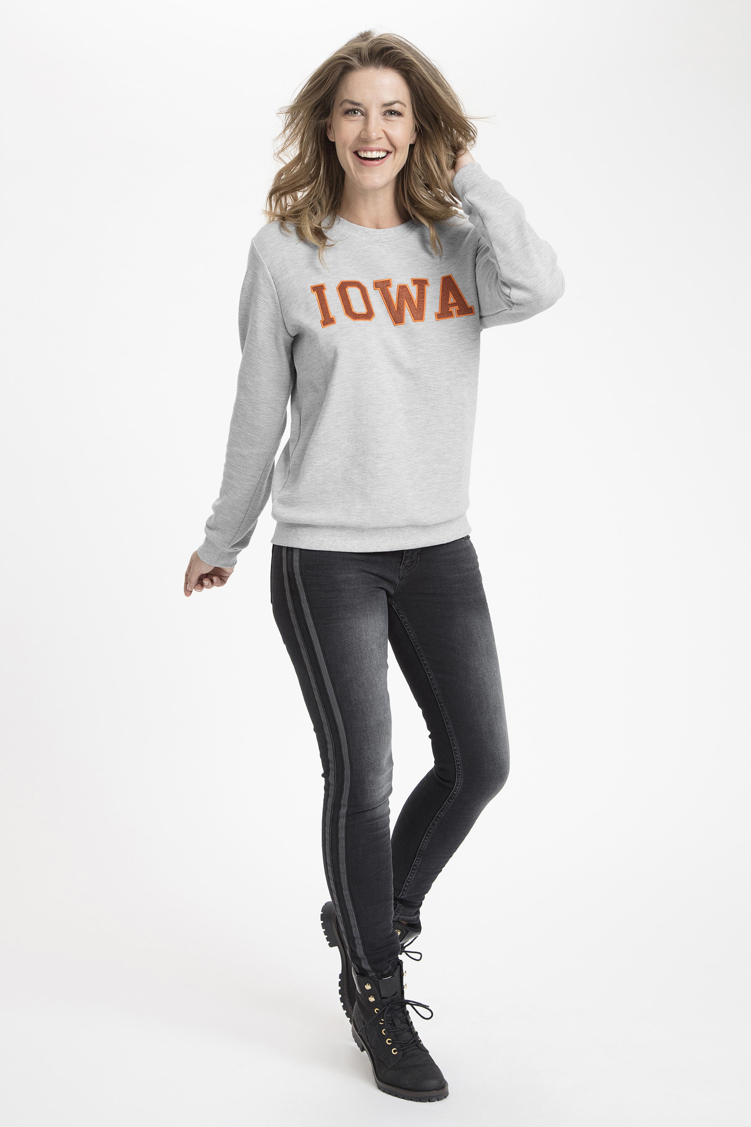 Grijsgemêleerd Sweatshirt van Kaffe – Door Grijsgemêleerd Sweatshirt van maat. XS-XXL hier