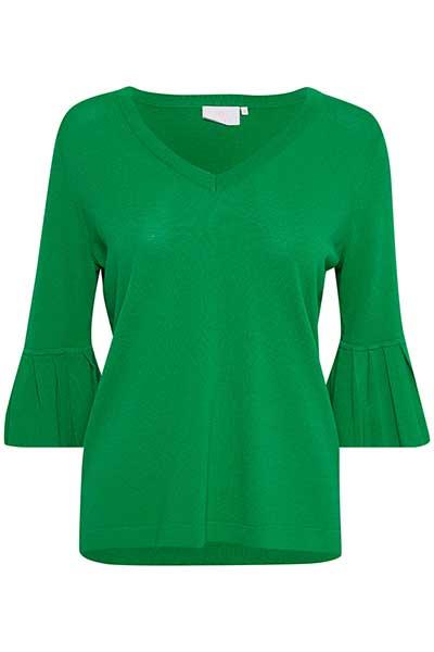 Groen Gebreide pullover van Kaffe – Door Groen Gebreide pullover van maat. XS-XXL hier