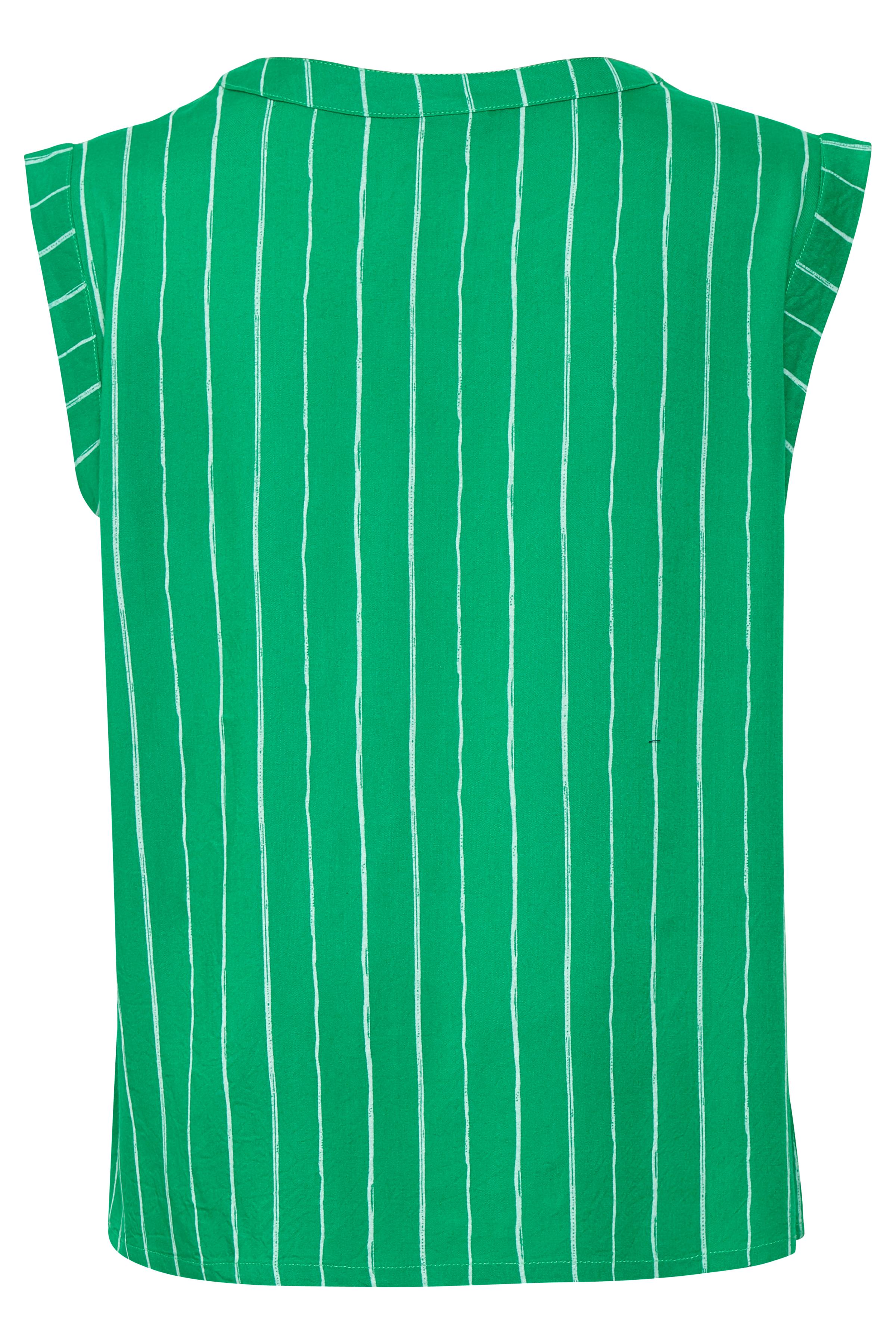 Grøn/hvid Top fra Kaffe – Køb Grøn/hvid Top fra str. 34-46 her