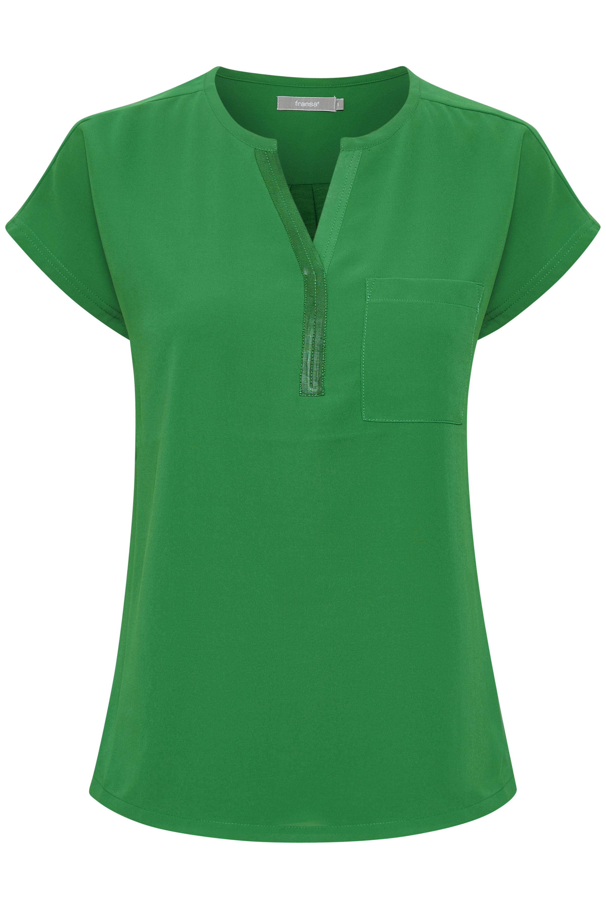 Grøn Kortærmet bluse fra Fransa – Køb Grøn Kortærmet bluse fra str. XS-XXL her