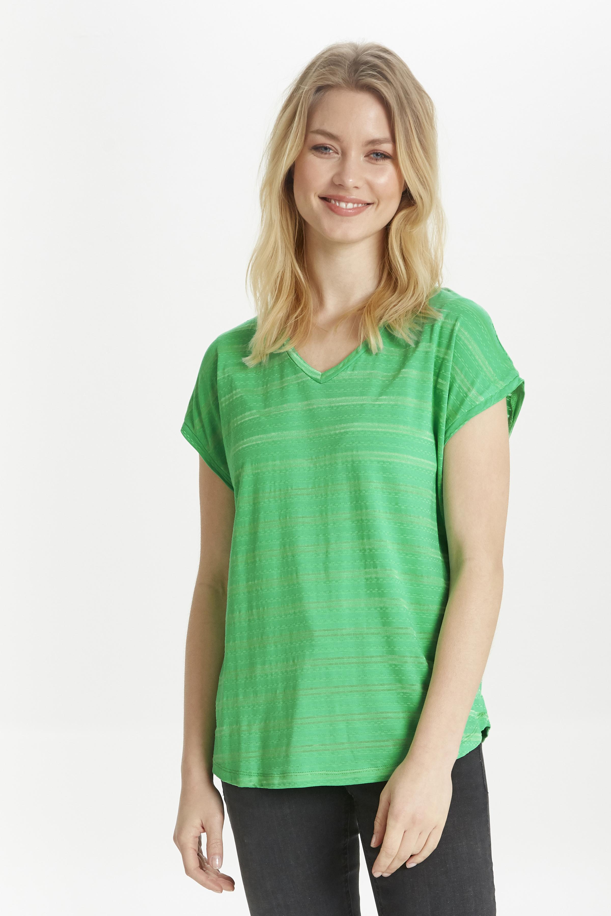 b.young Dame Kortærmet T-shirt - Grøn