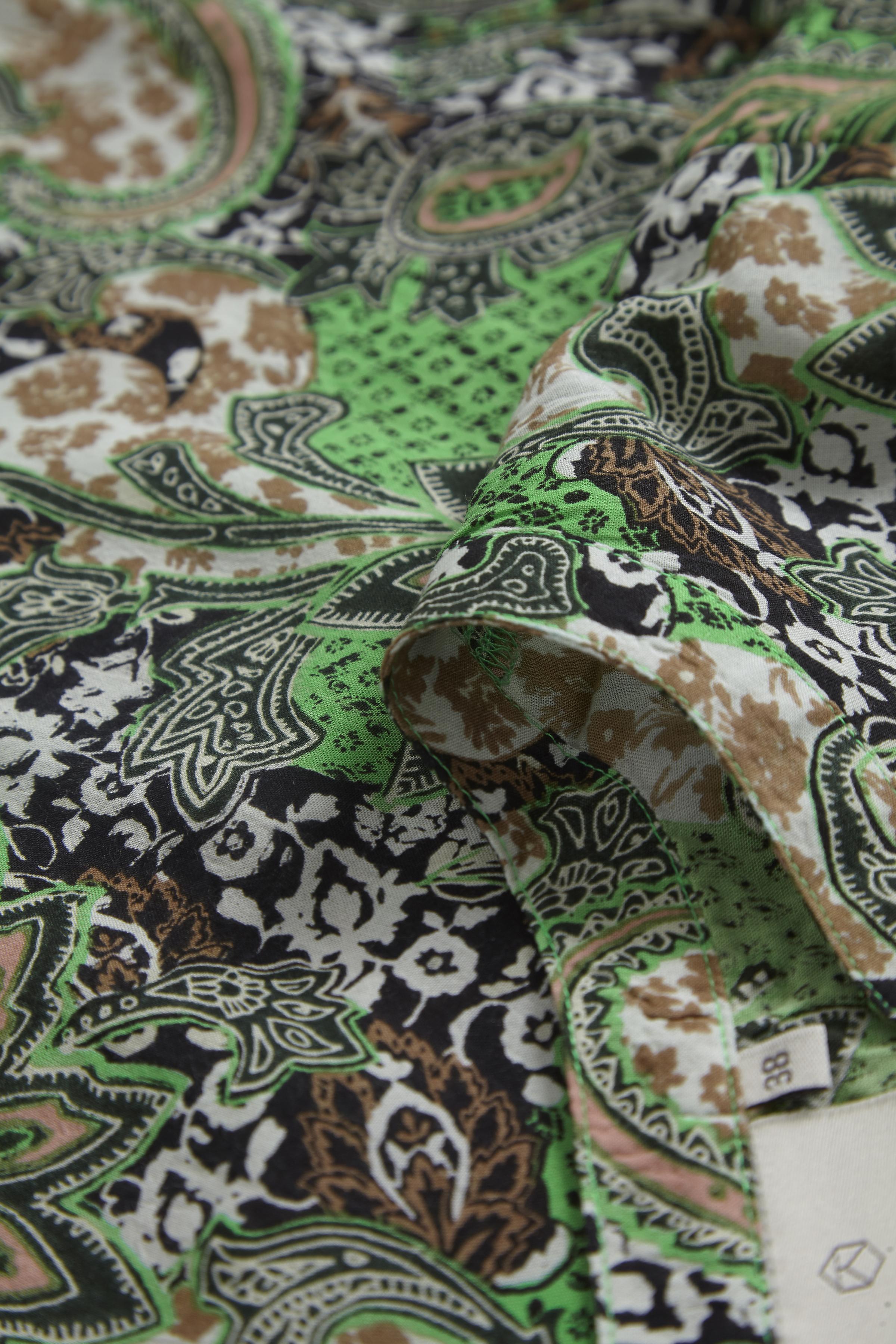 Grøn/sort Langærmet bluse fra Kaffe – Køb Grøn/sort Langærmet bluse fra str. 34-46 her