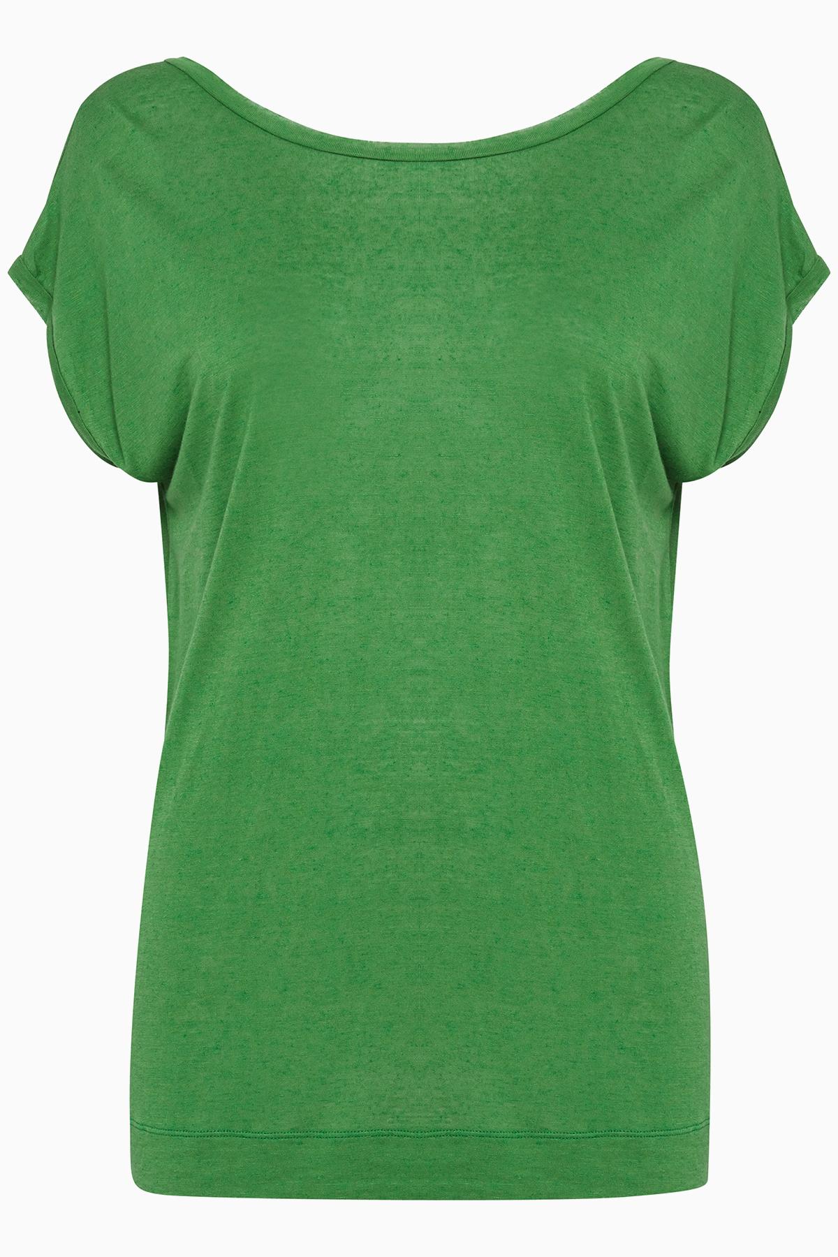 Pulz Jeans Dame T-shirt korte mouw - Groen