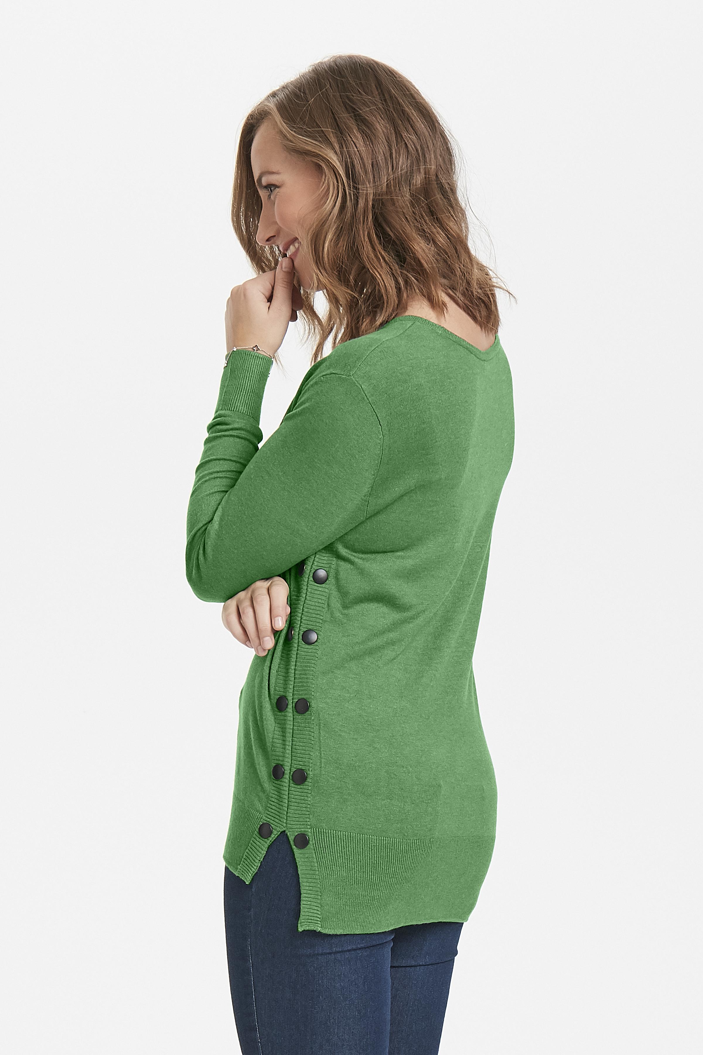 Grønmeleret Strikpullover fra Fransa – Køb Grønmeleret Strikpullover fra str. XS-XXL her