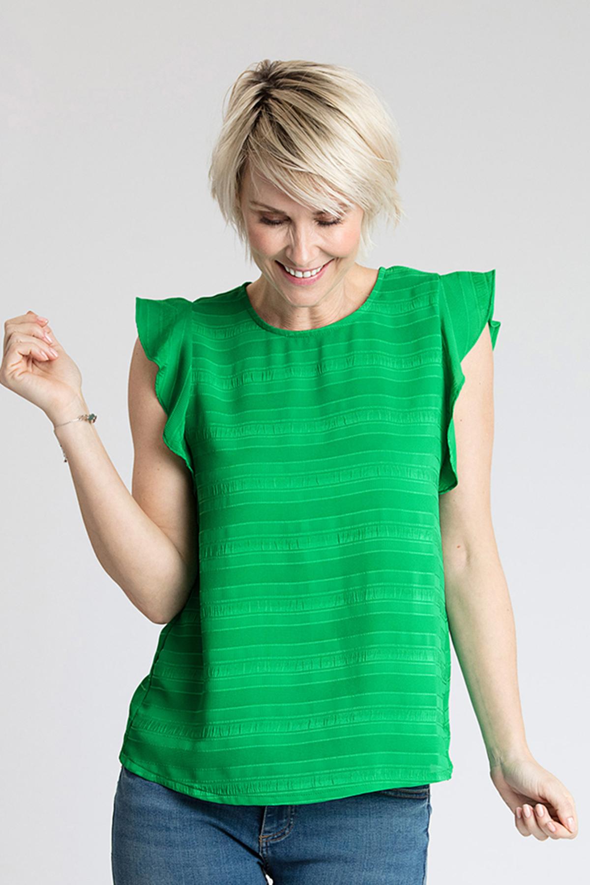 Grön Linne från Kaffe – Köp Grön Linne från stl. 34-46 här