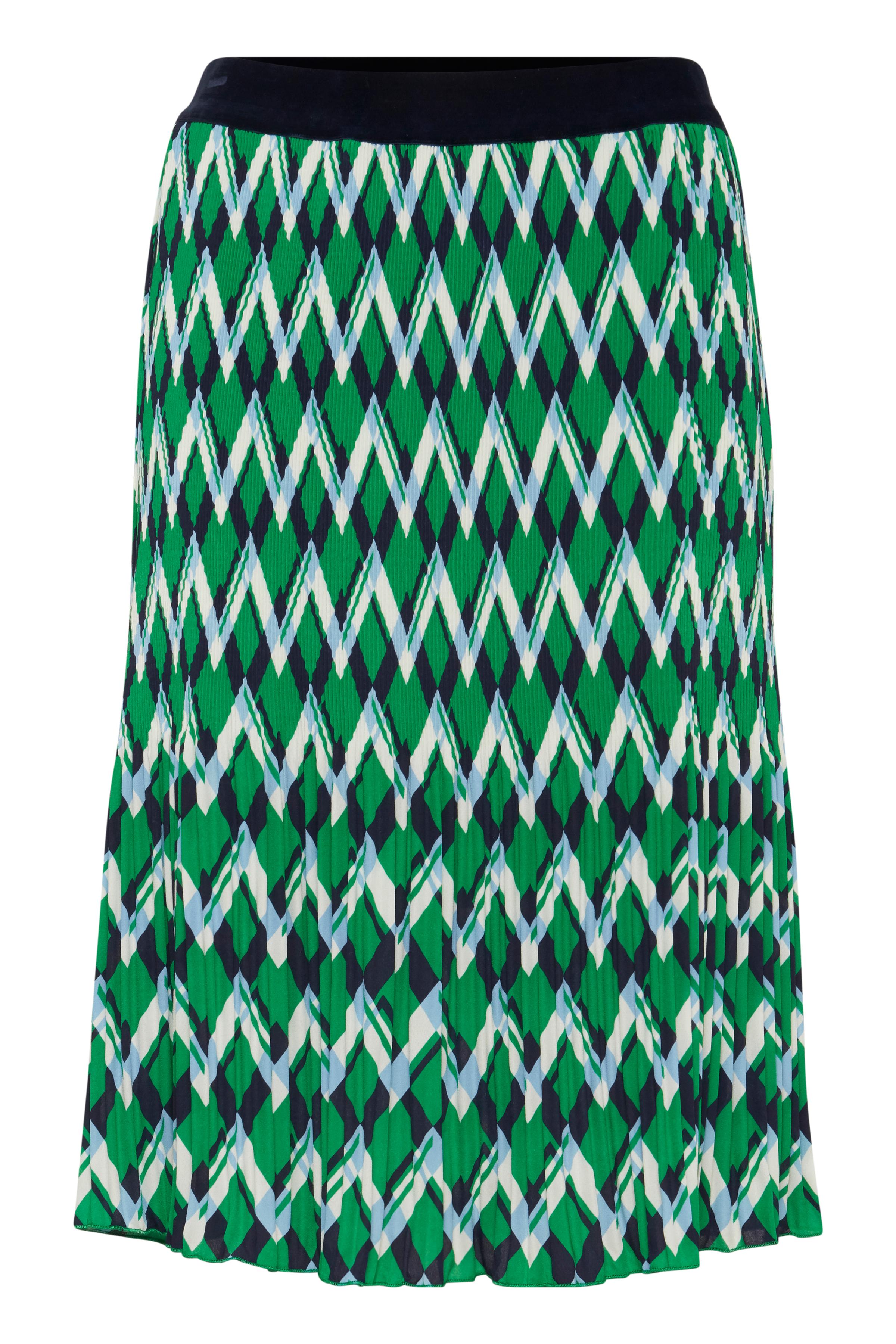 Grön/marinblå Kjol från Fransa – Köp Grön/marinblå Kjol från stl. XS-XXL här