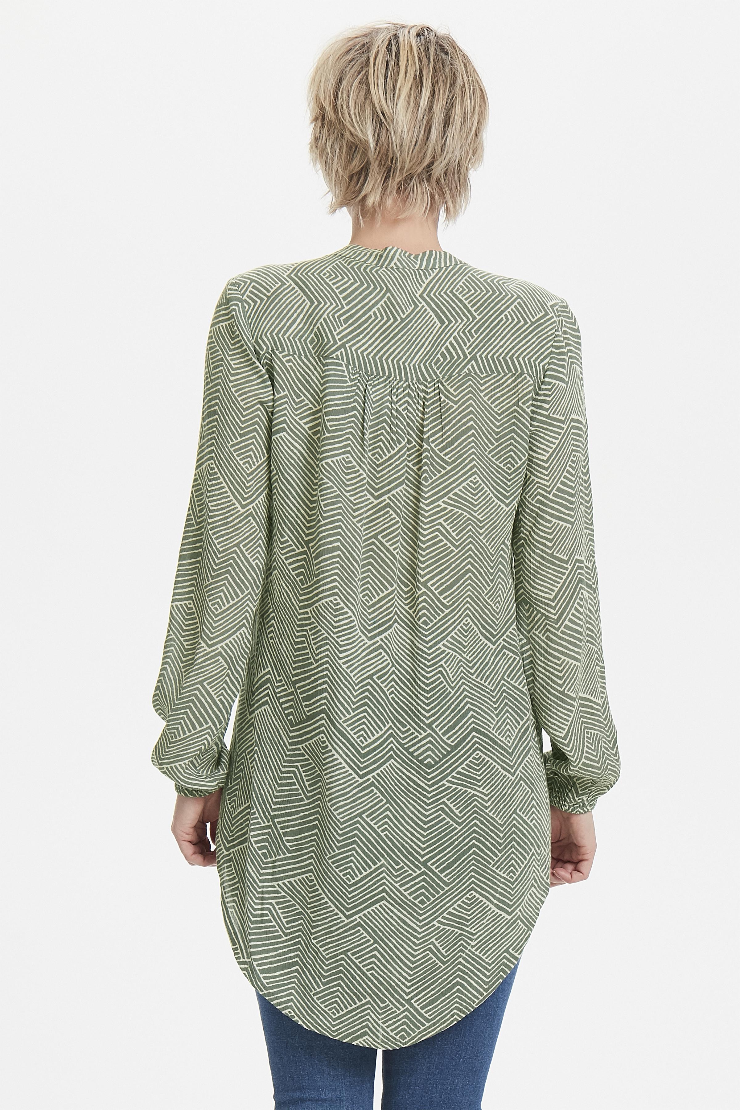 Grün/creme Tunika von Bon'A Parte – Shoppen Sie Grün/creme Tunika ab Gr. S-2XL hier