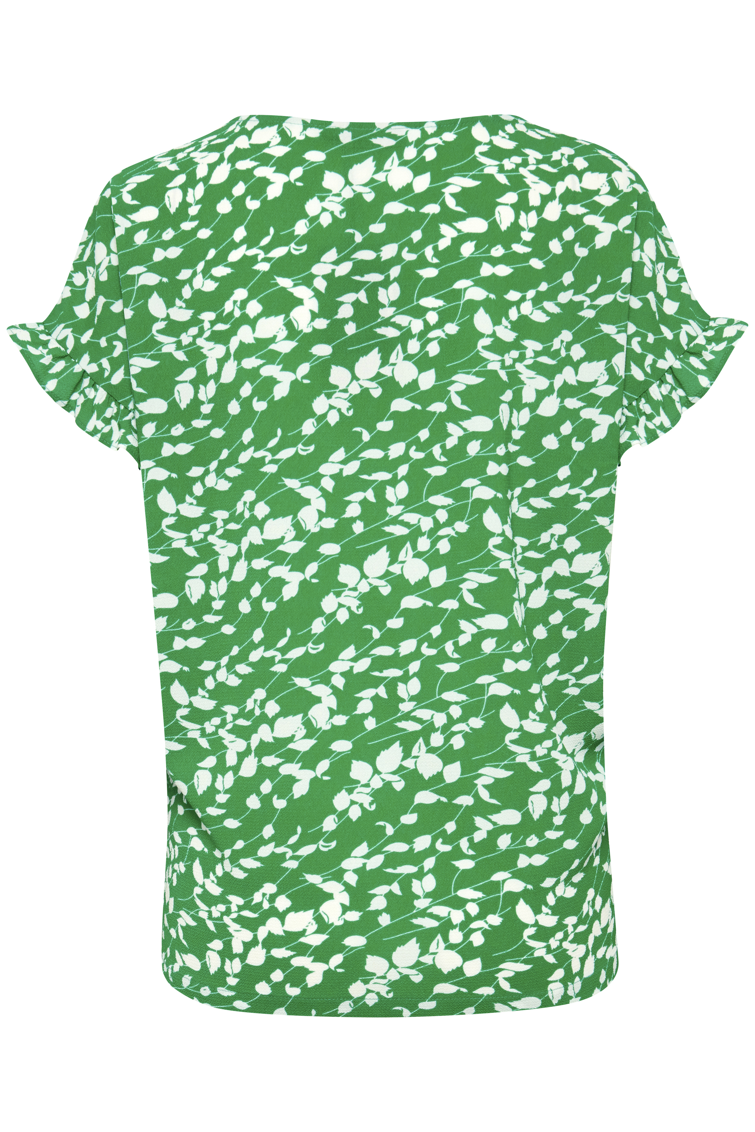 Grün/weiß Kurzarm-Bluse  von Fransa – Shoppen Sie Grün/weiß Kurzarm-Bluse  ab Gr. XS-XXL hier