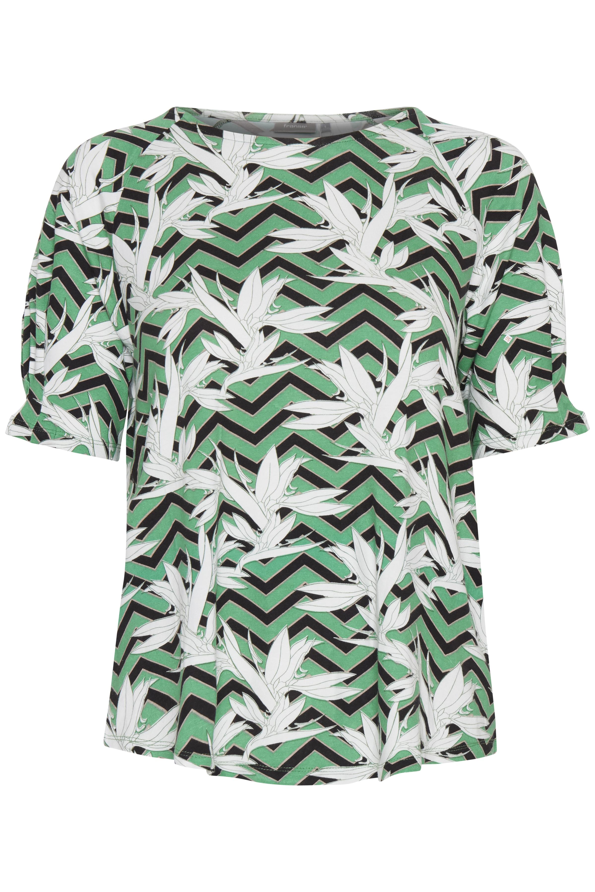Grün/weiß Kurzarm T-Shirt von Fransa – Shoppen Sie Grün/weiß Kurzarm T-Shirt ab Gr. XS-XXL hier